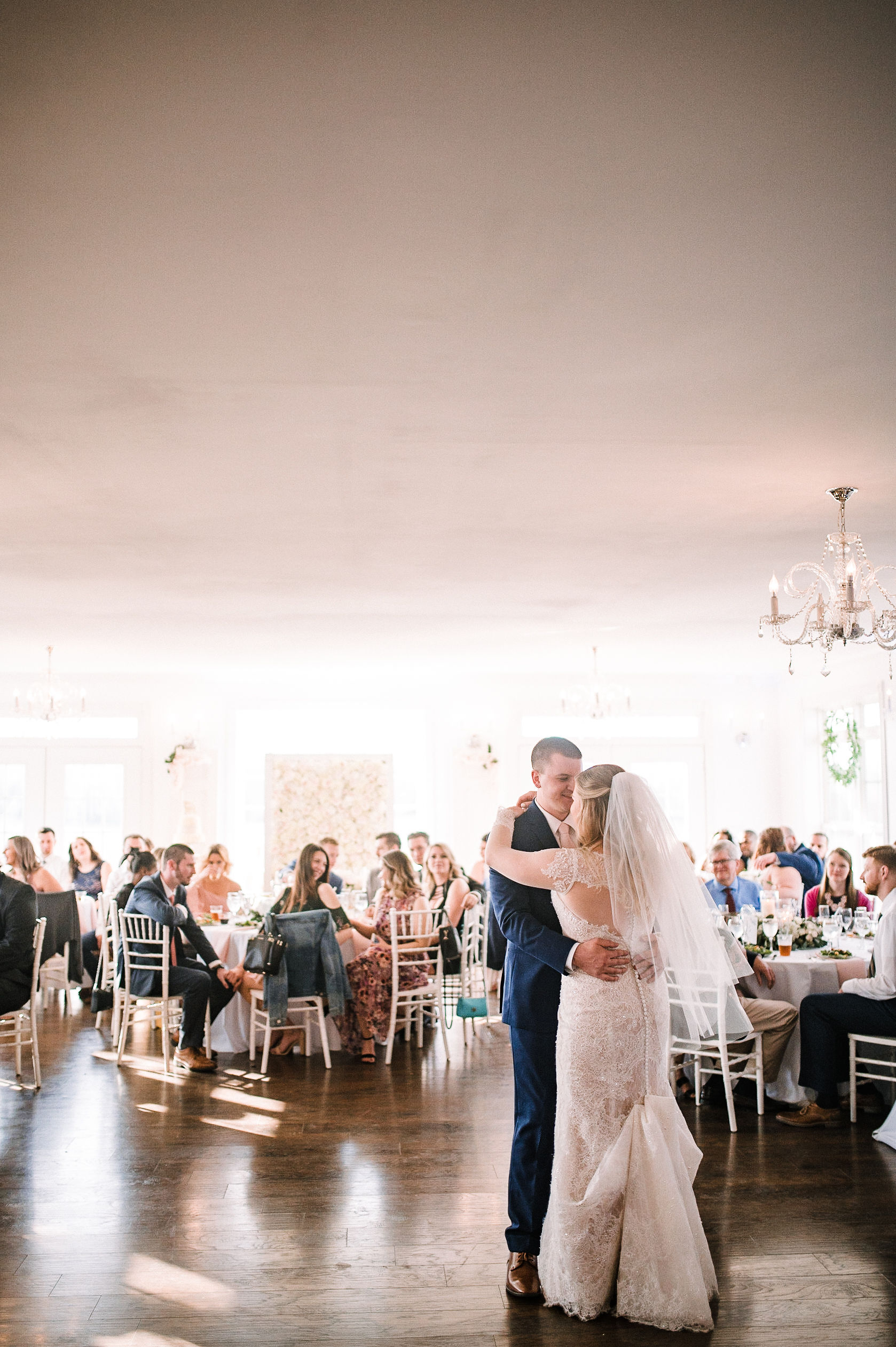 bride and groom first dance at Rixey Manor