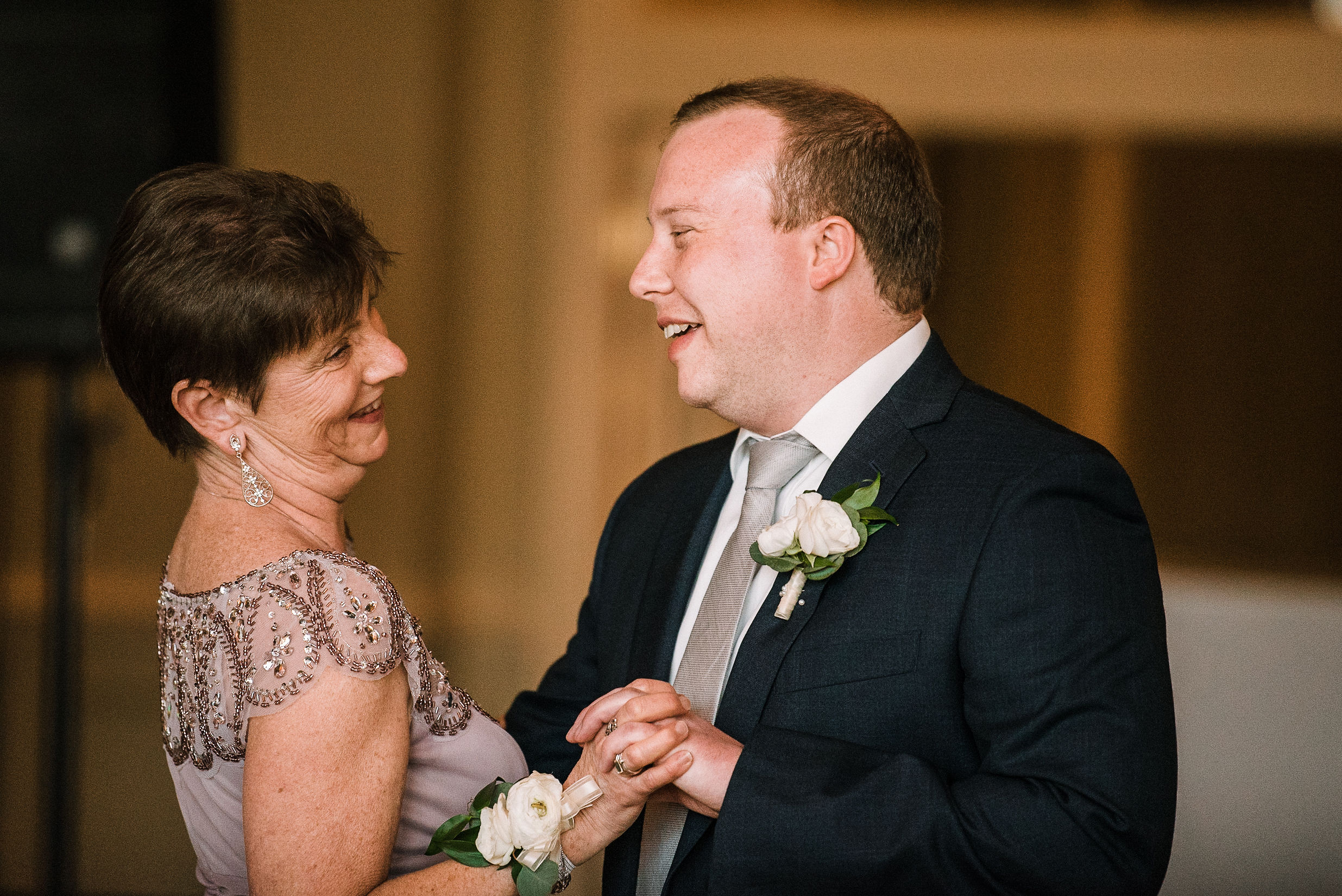 groom dancing with his mother at Westfields Golf Club