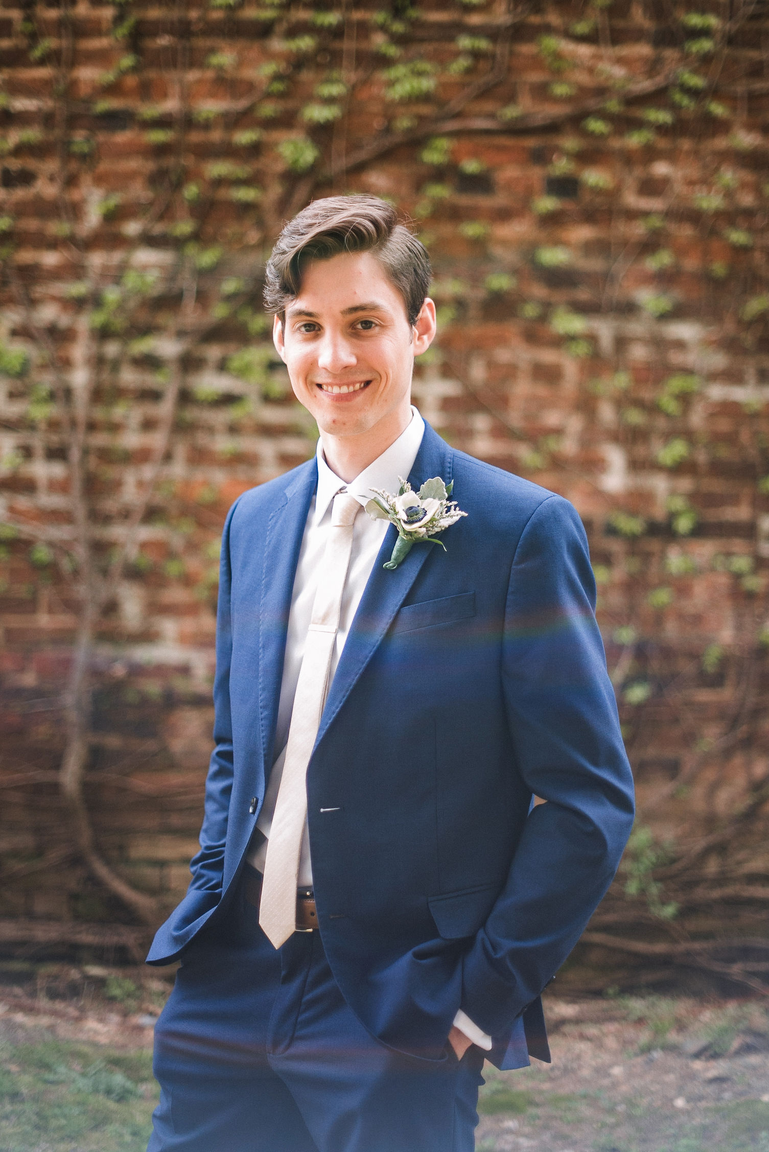 Groom Portrait at the Inn at the Old Silk Mill