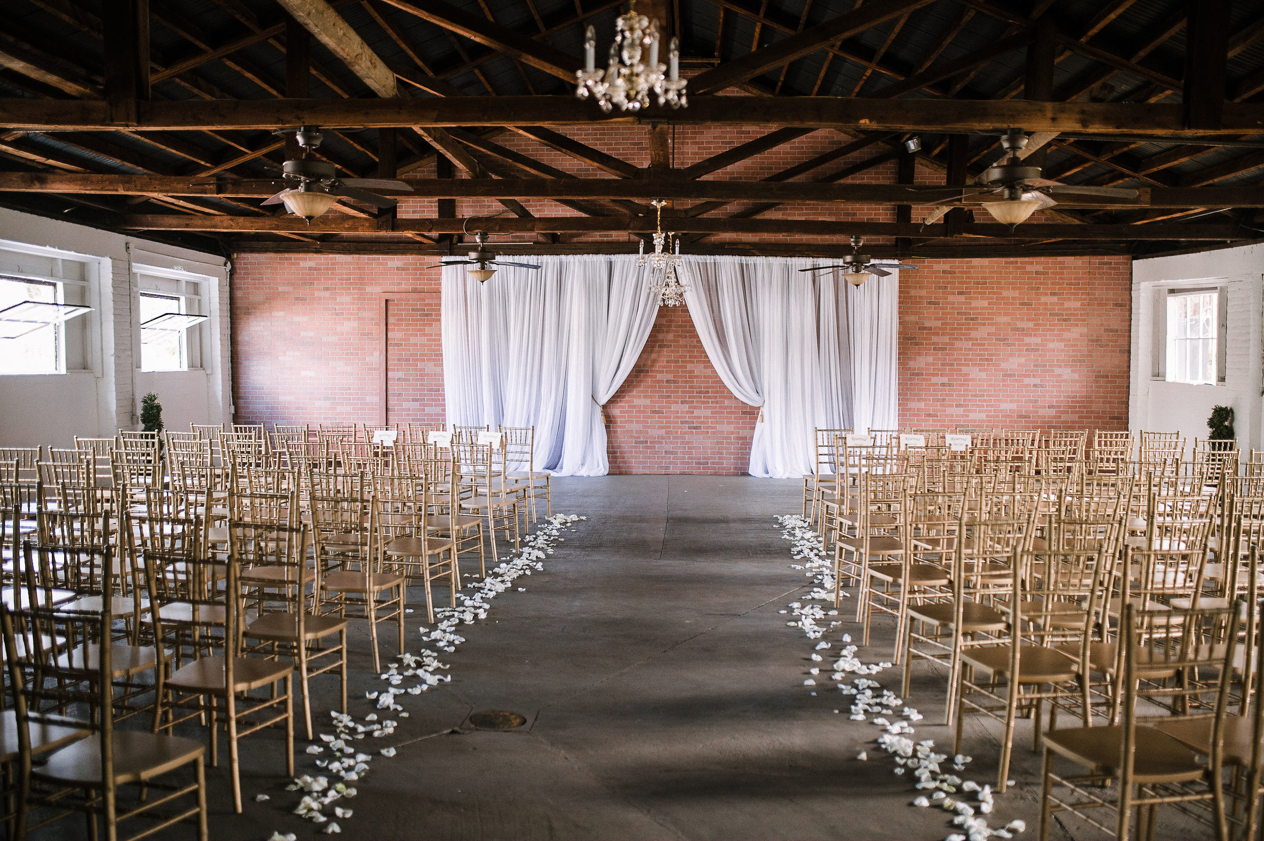 ceremony shot at the Inn at the Old Silk Mill