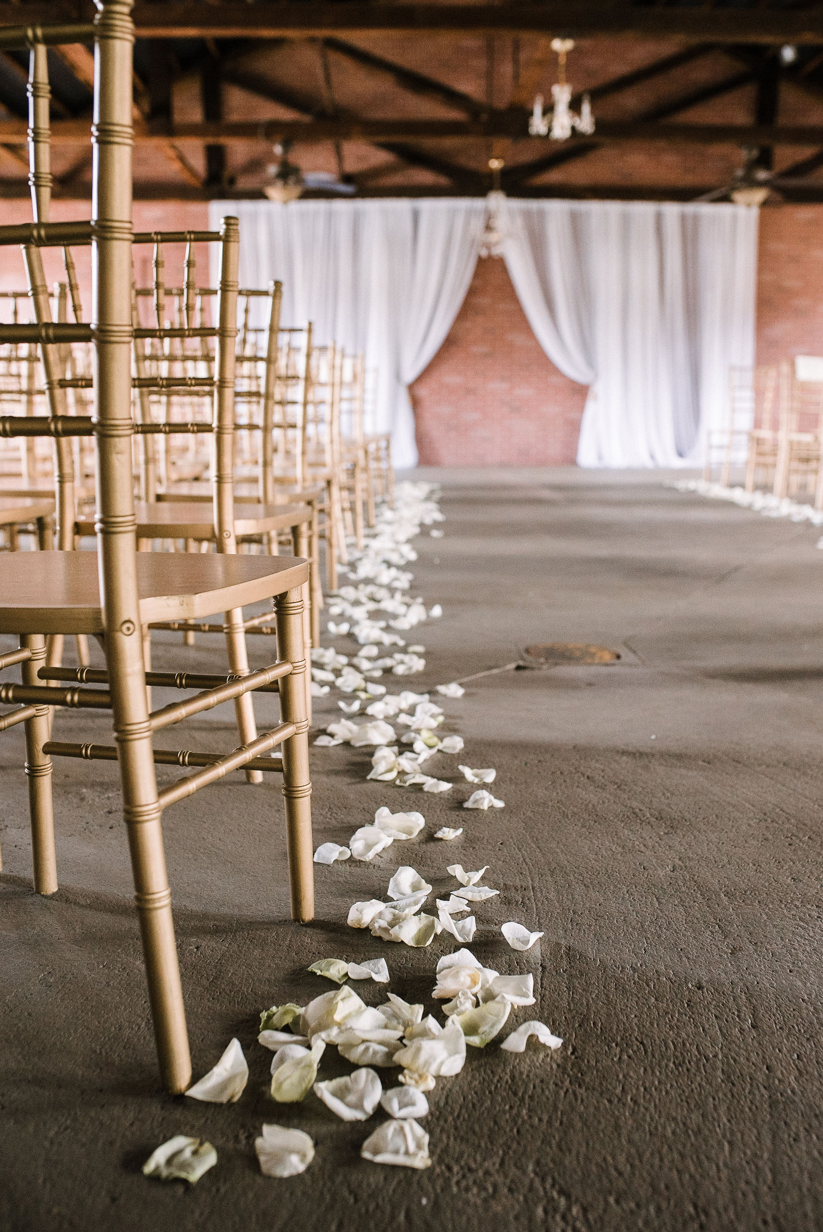 ceremony detail shot at the Inn at the Old Silk Mill
