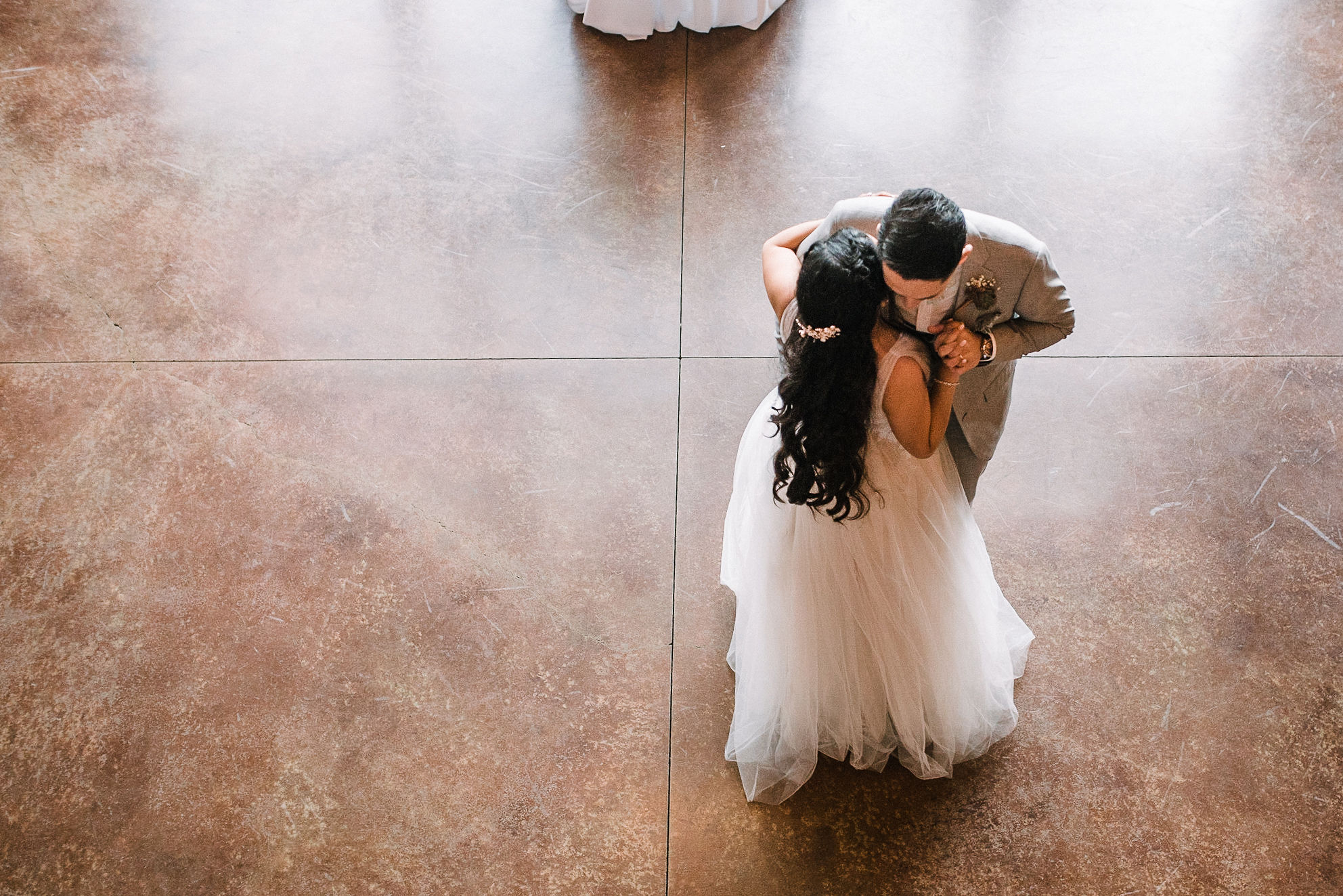 bride and groom having first dance at the Faithbrooke Barn & Vineyards