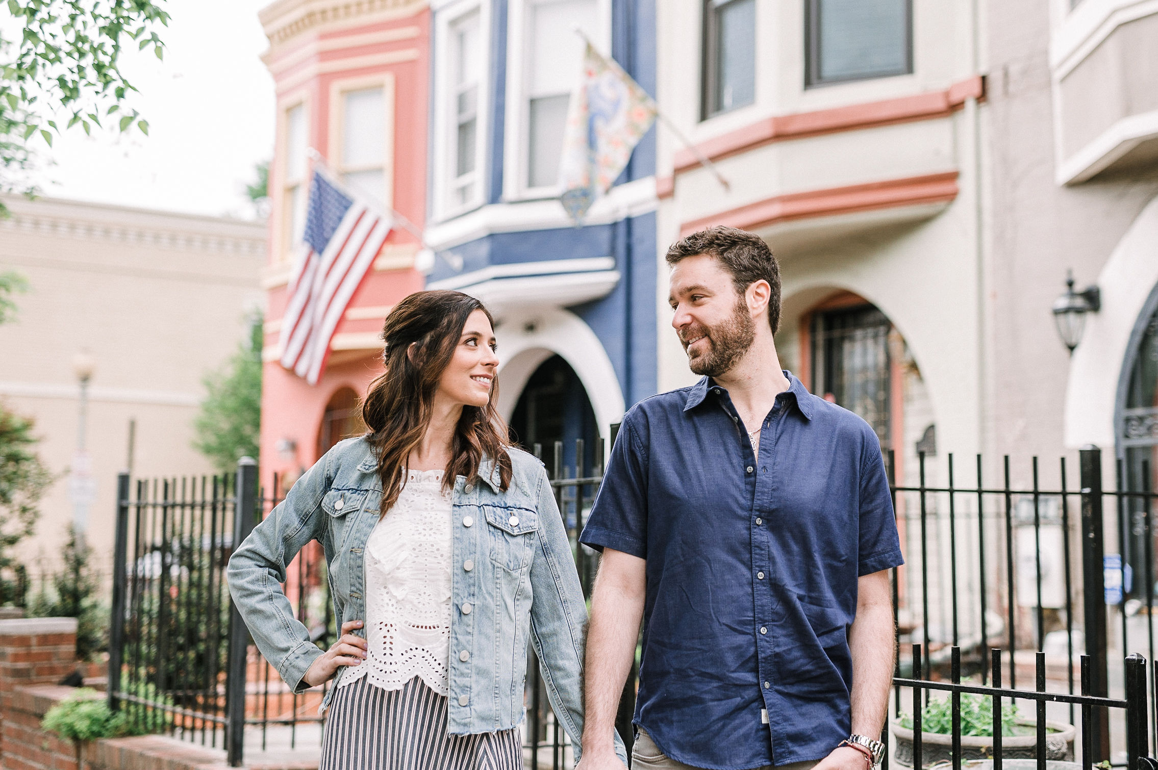 H Street Washington DC Engagement Session