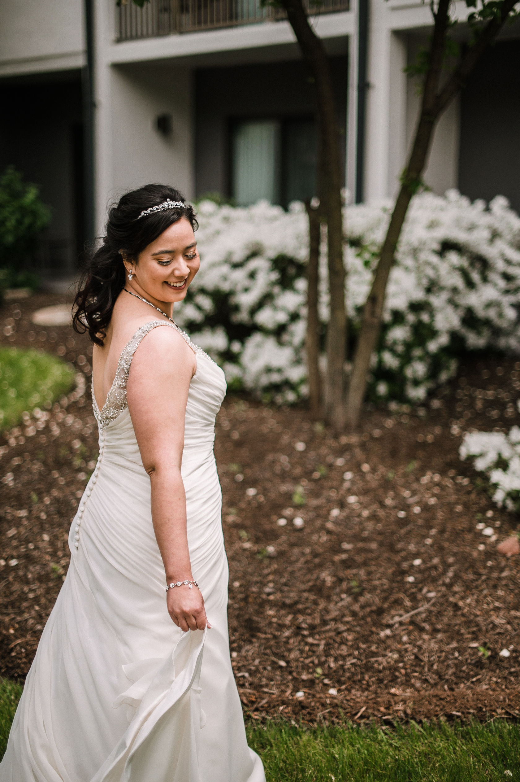 bridal portrait at westfields golf club