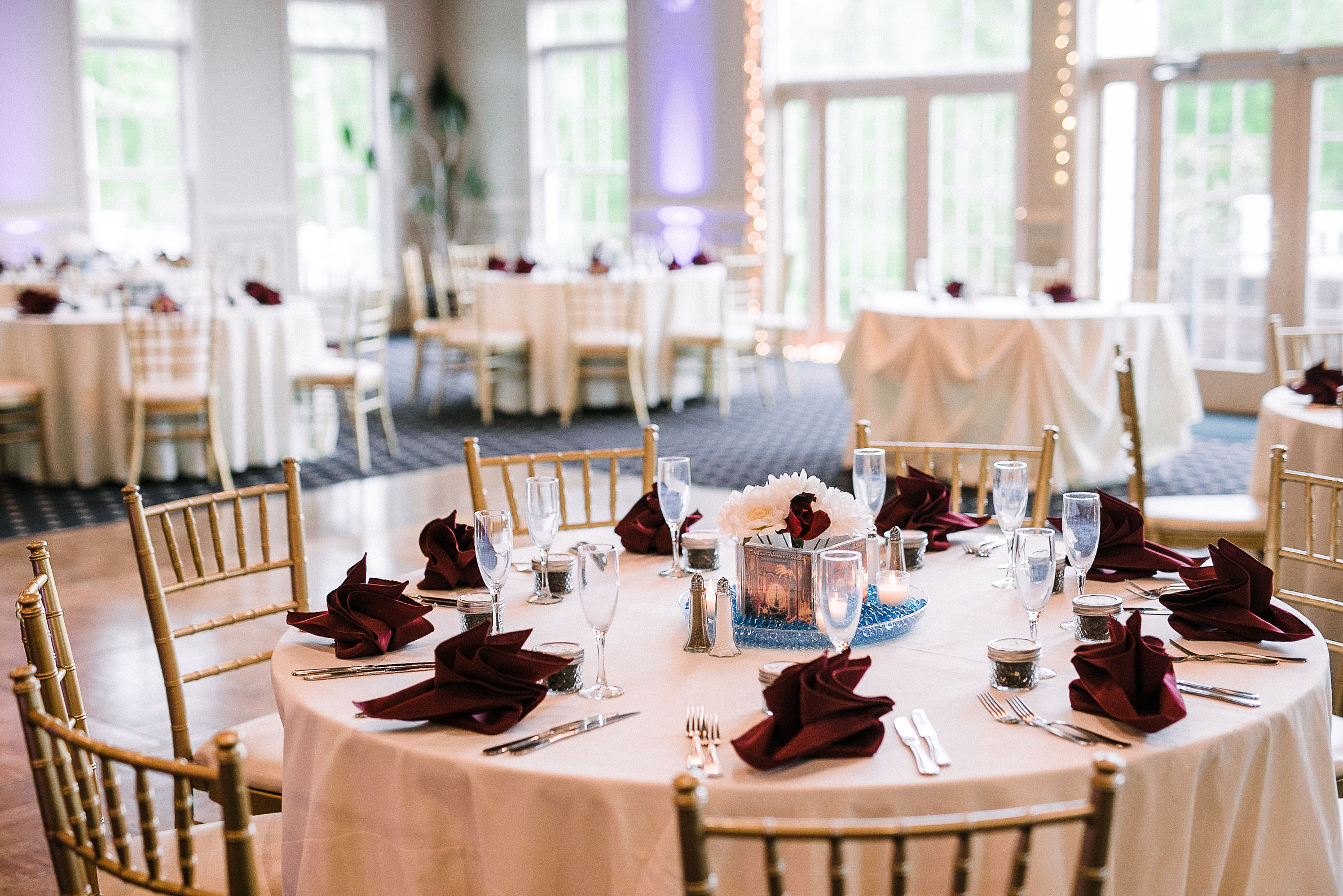 reception details at westfields golf club