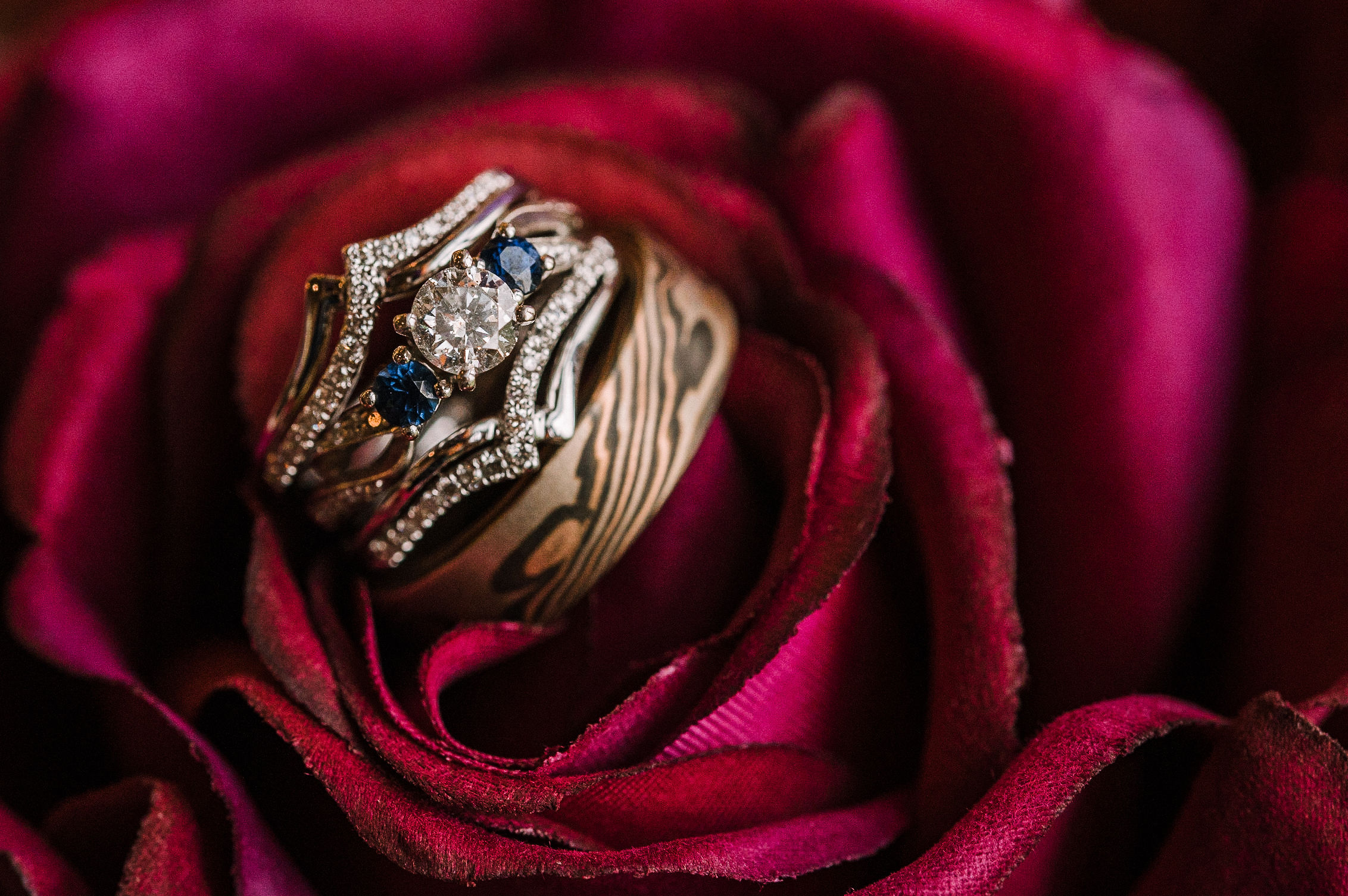 wedding ring detail shot at westfields golf club