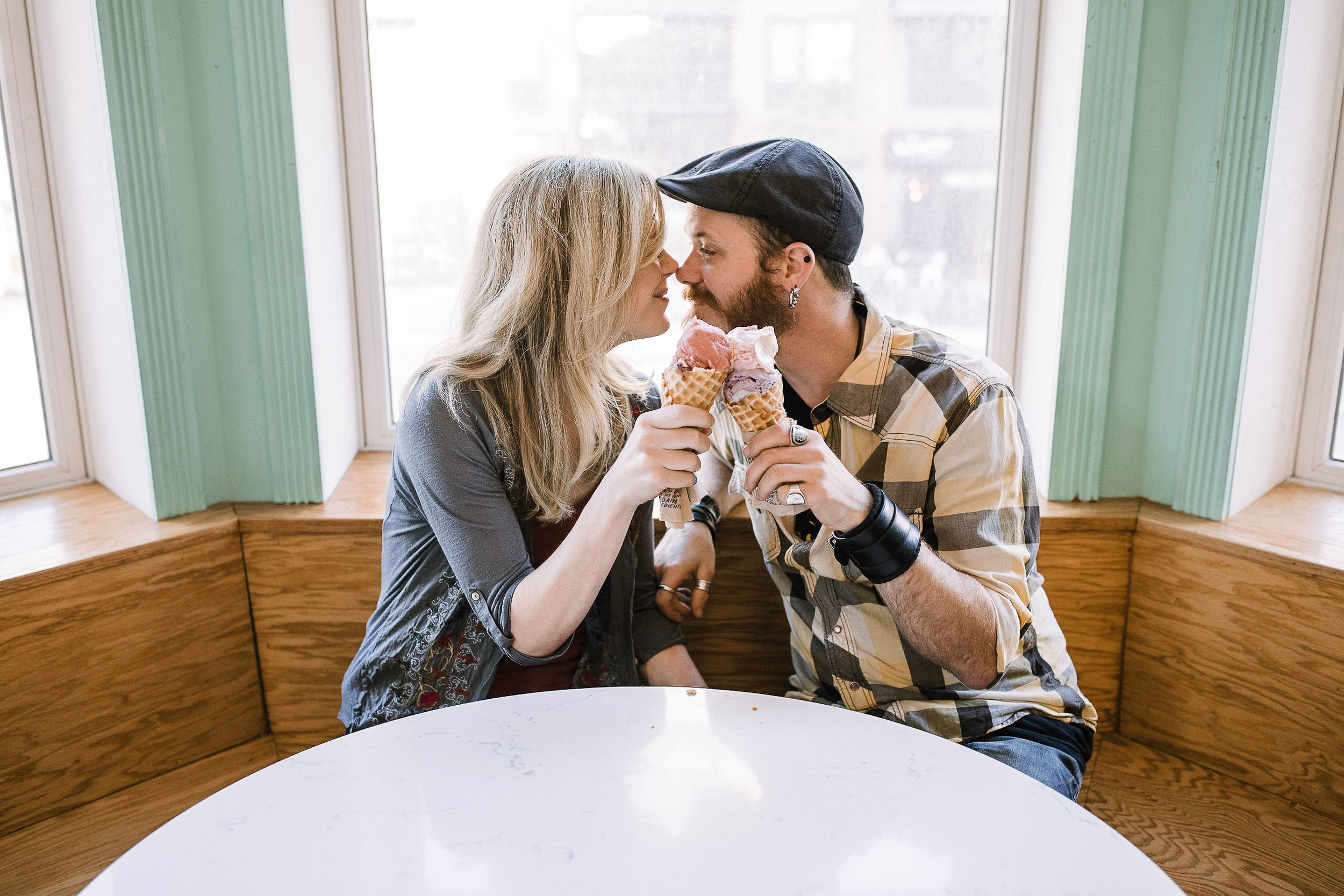 Jeni's Splendid Ice Creams Engagement Session in Washington, DC