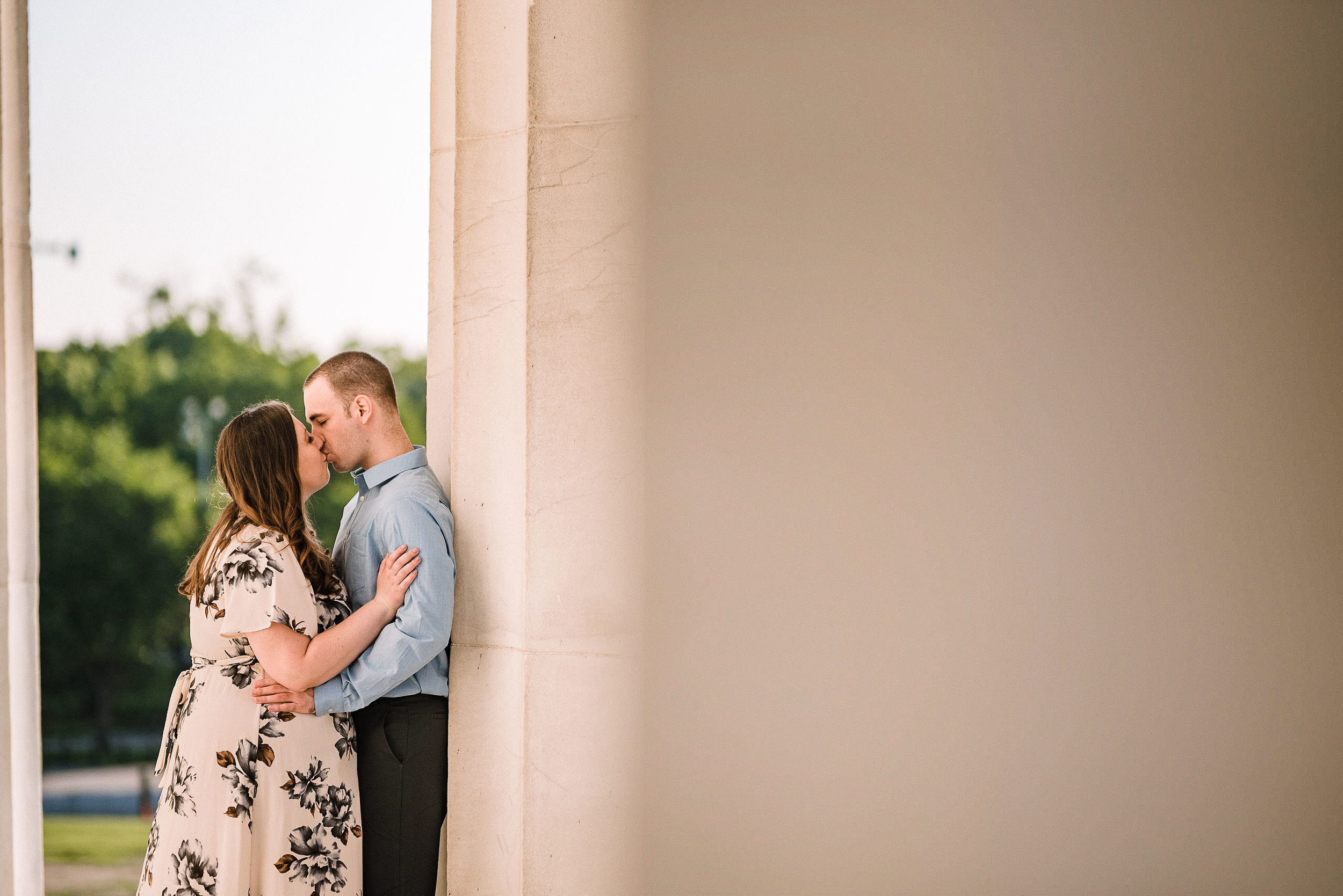 Lincoln Memorial Engagement Session in Washington DC