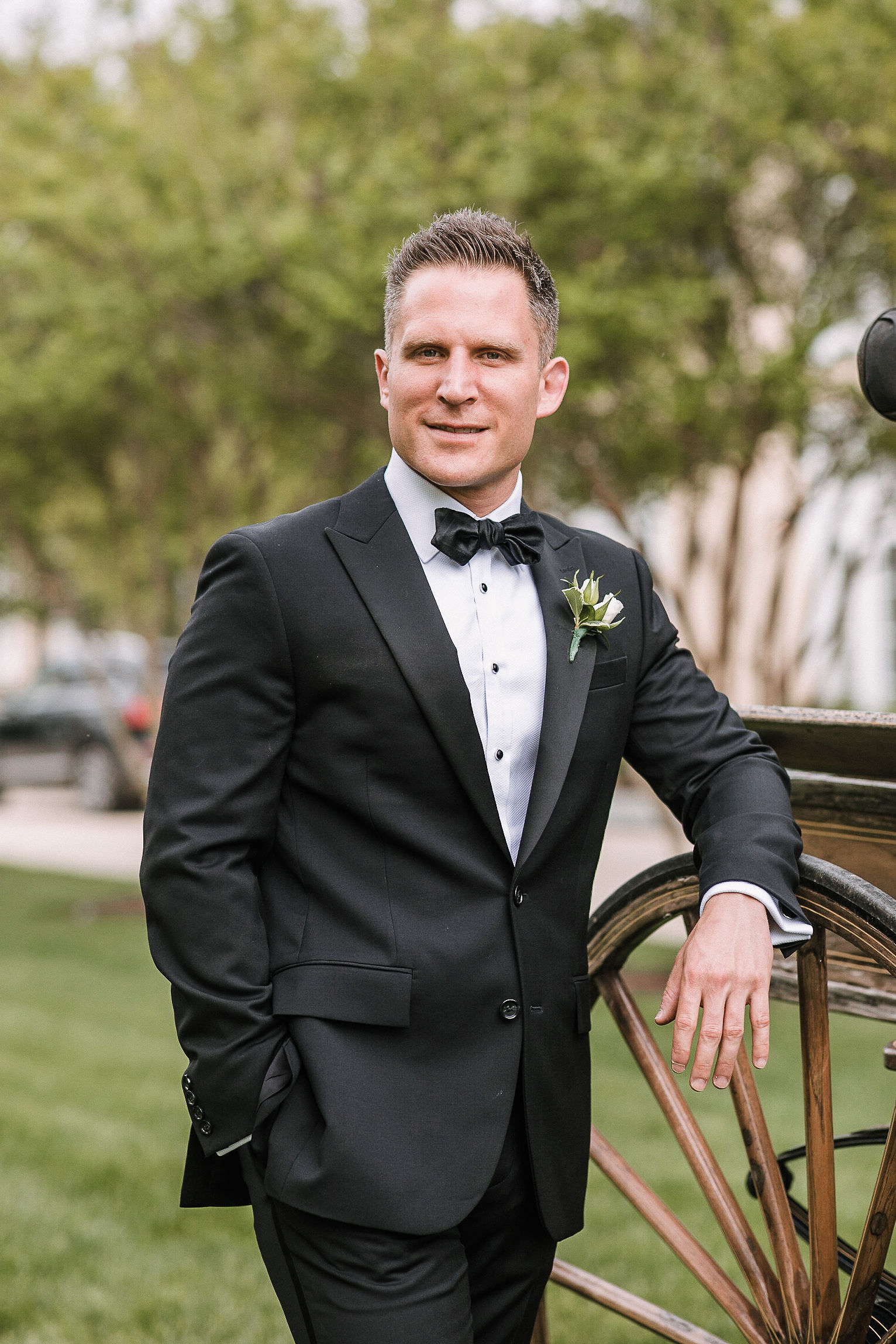 portrait of groom at The Salamander Resort