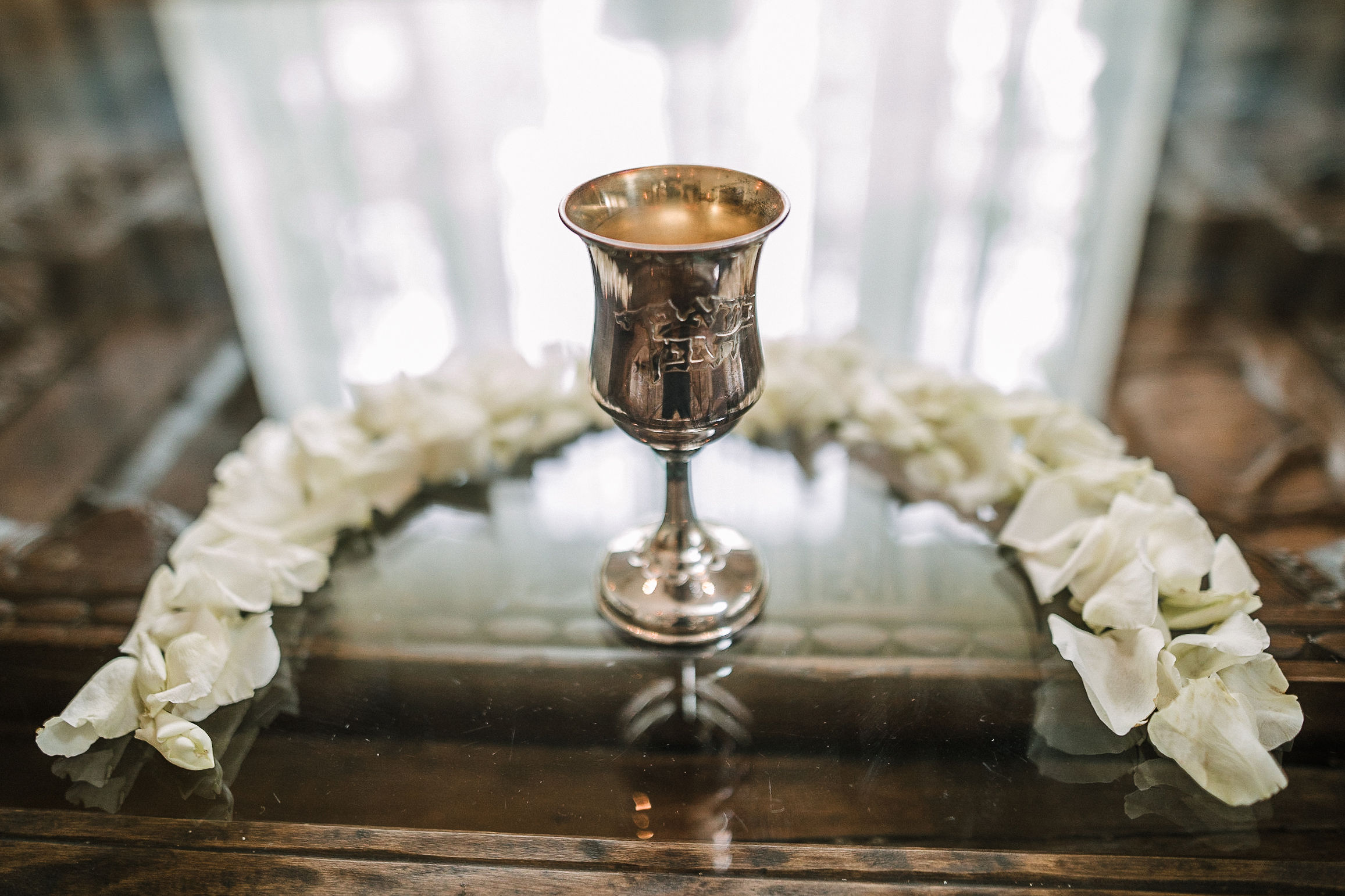 detail shot of chalice at The Salamander Resort