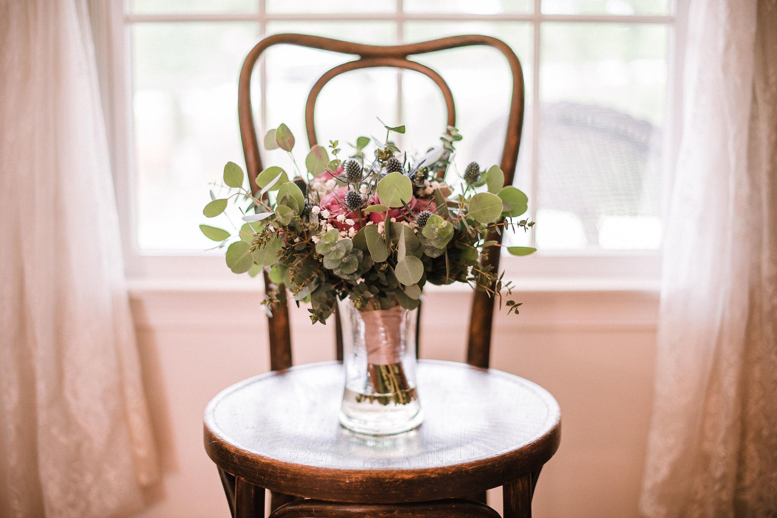 bridal bouquet detail shot at MAVFC Reception Hall