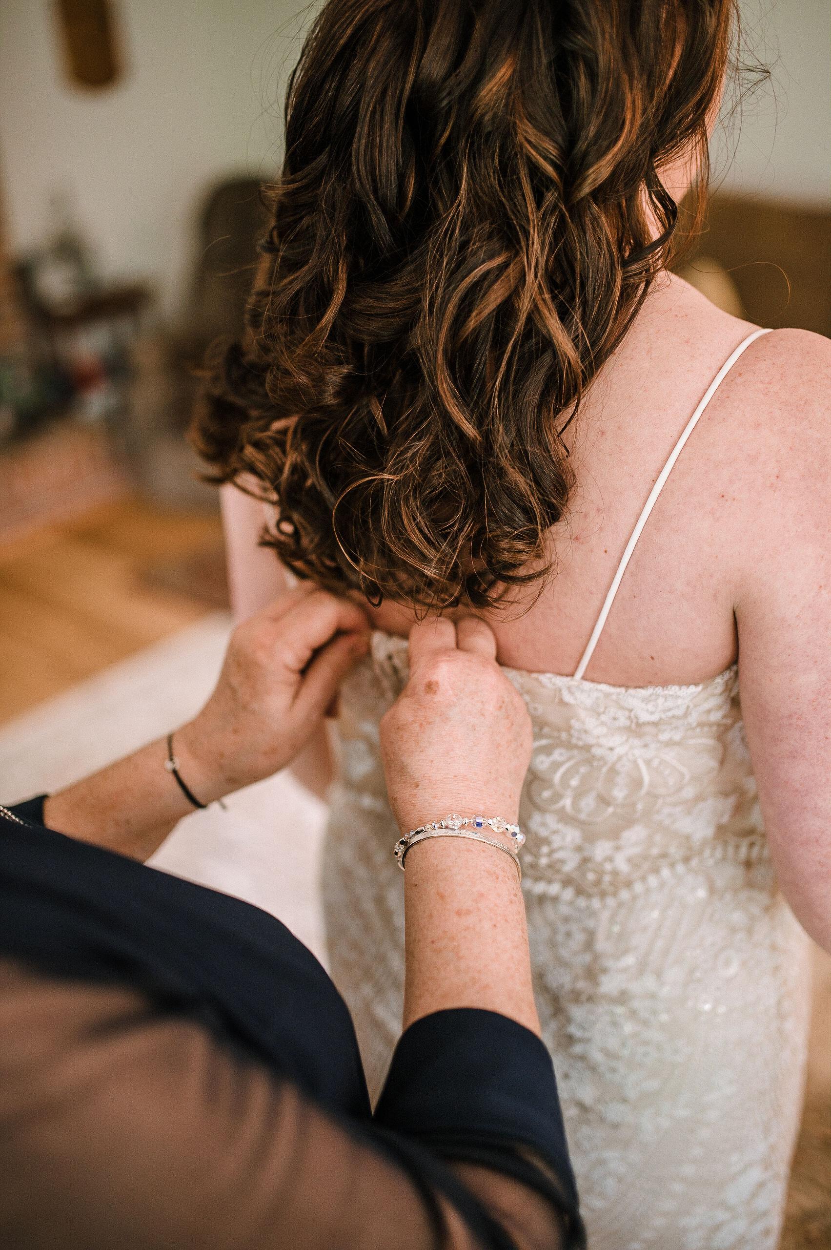 bride getting ready at MAVFC Reception Hall