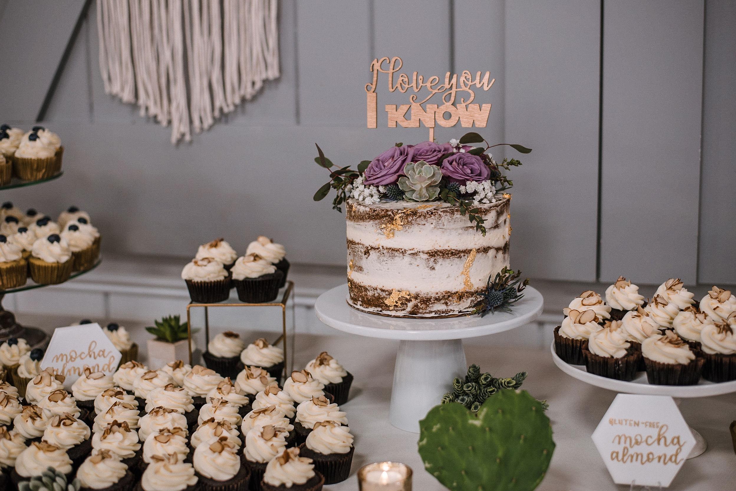detail shot of dessert table at MAVFC Reception Hall