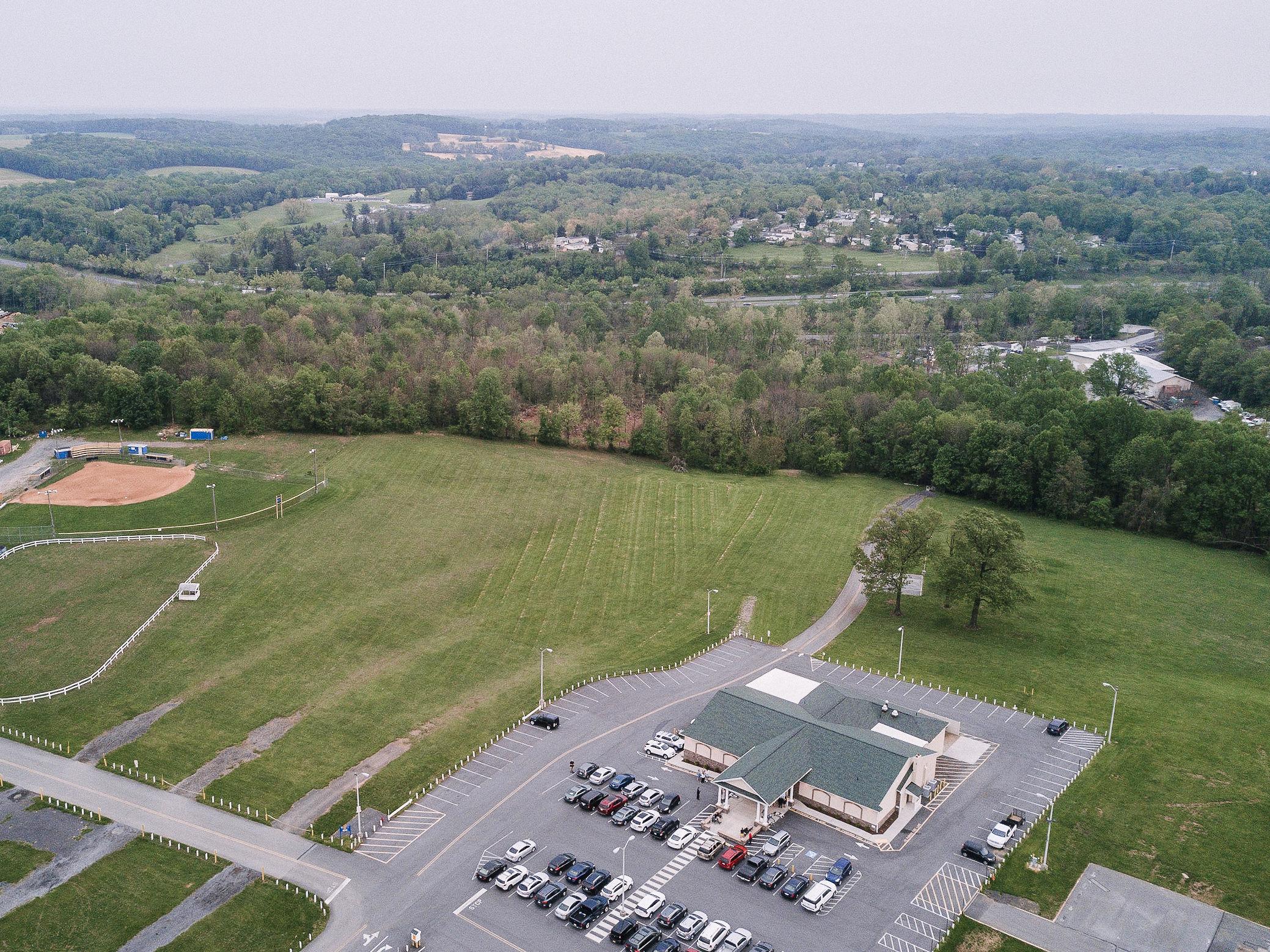 aerial shot at MAVFC Reception Hall