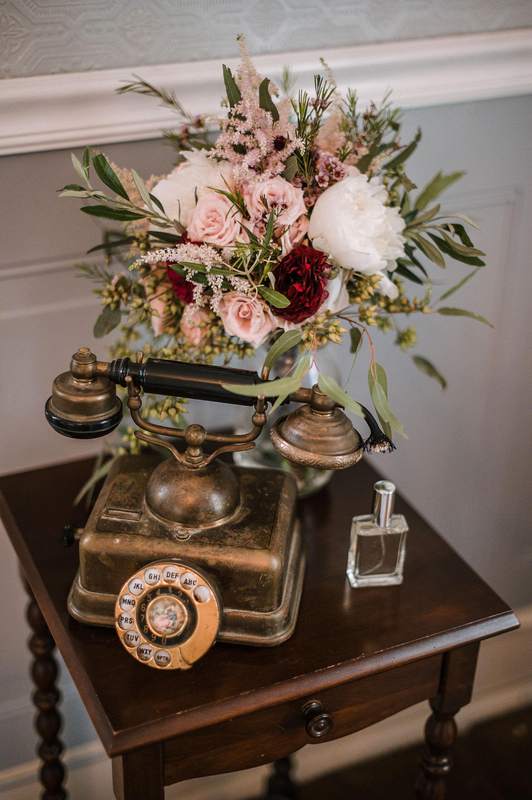 detail shot of wedding bouquet at Seasons at Magnolia Manor