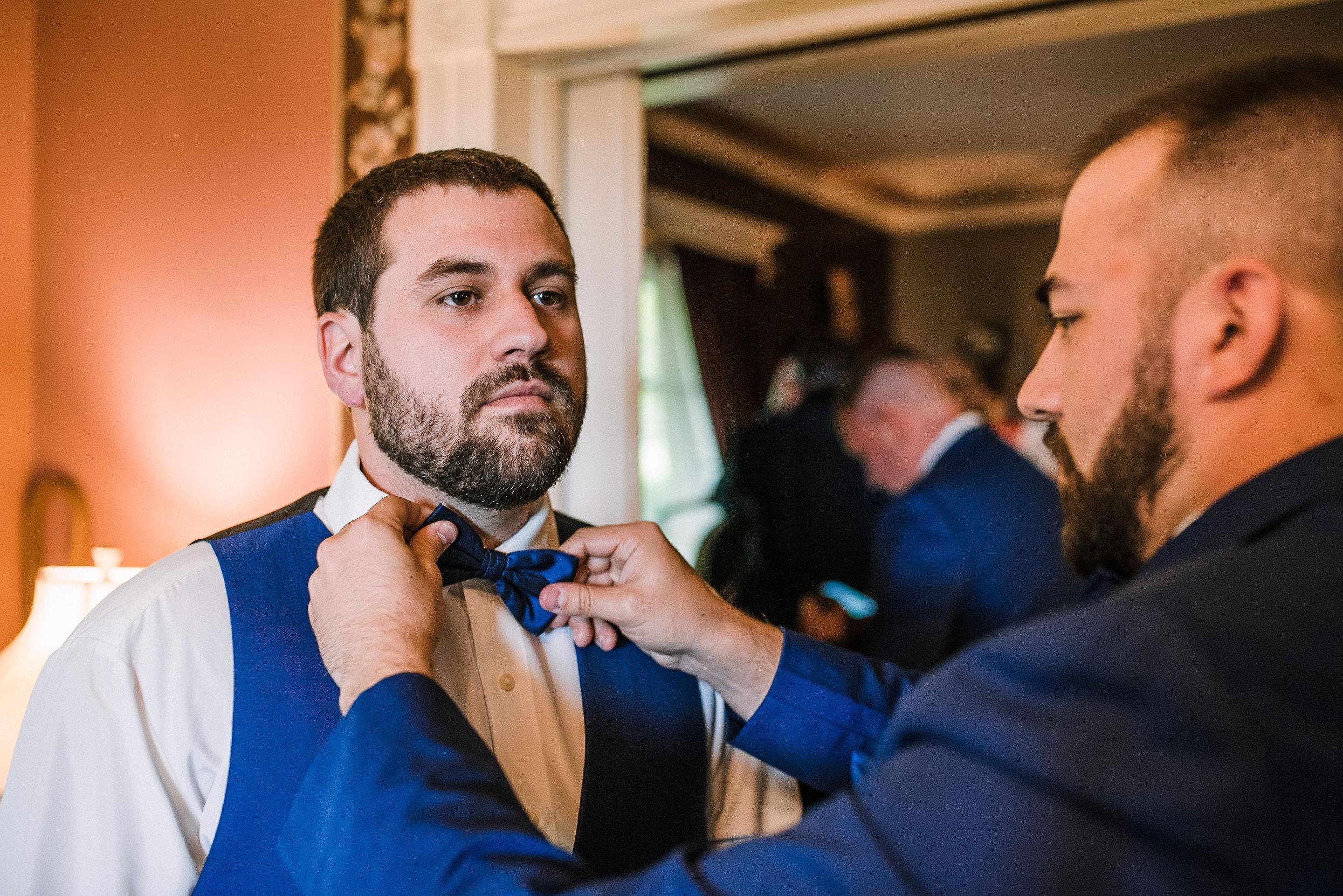 groom getting ready at Seasons at Magnolia Manor