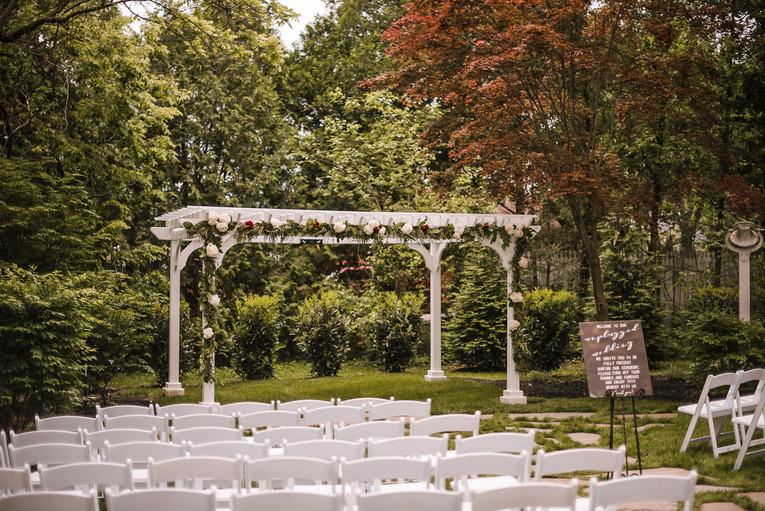 ceremony site at Seasons at Magnolia Manor