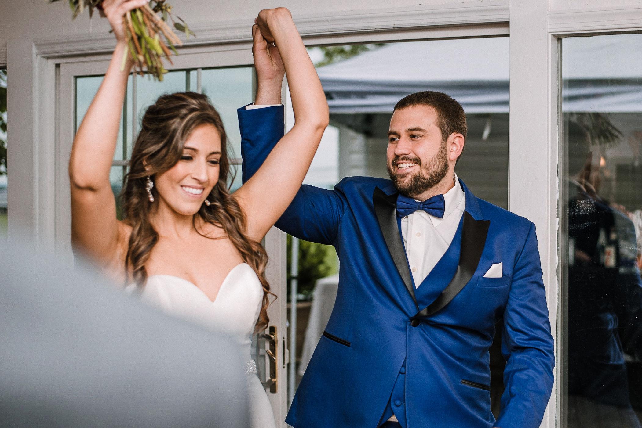 bride and groom entering reception at Seasons at Magnolia Manor