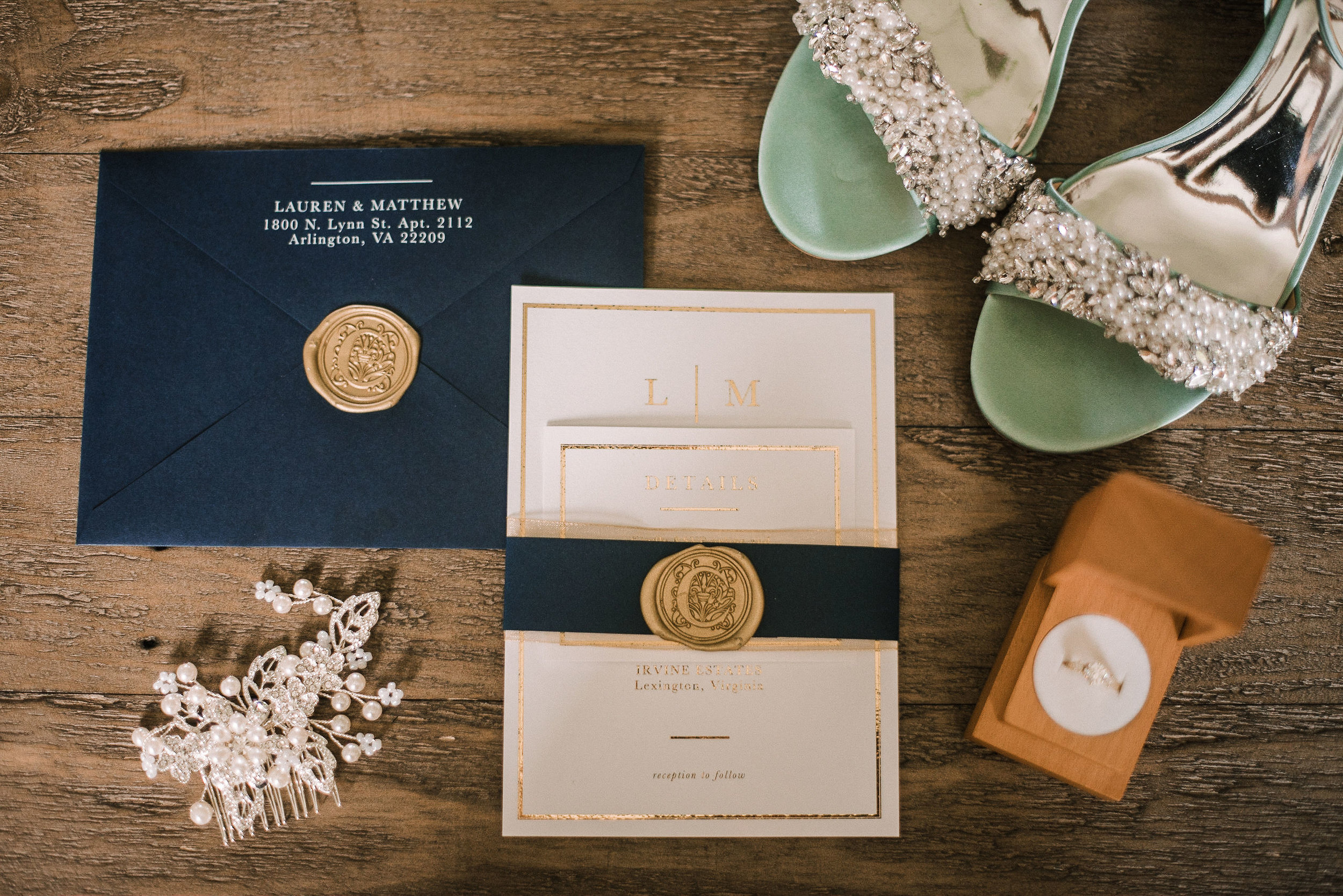 Stationery details at House Mountain Inn & Irvine Estate