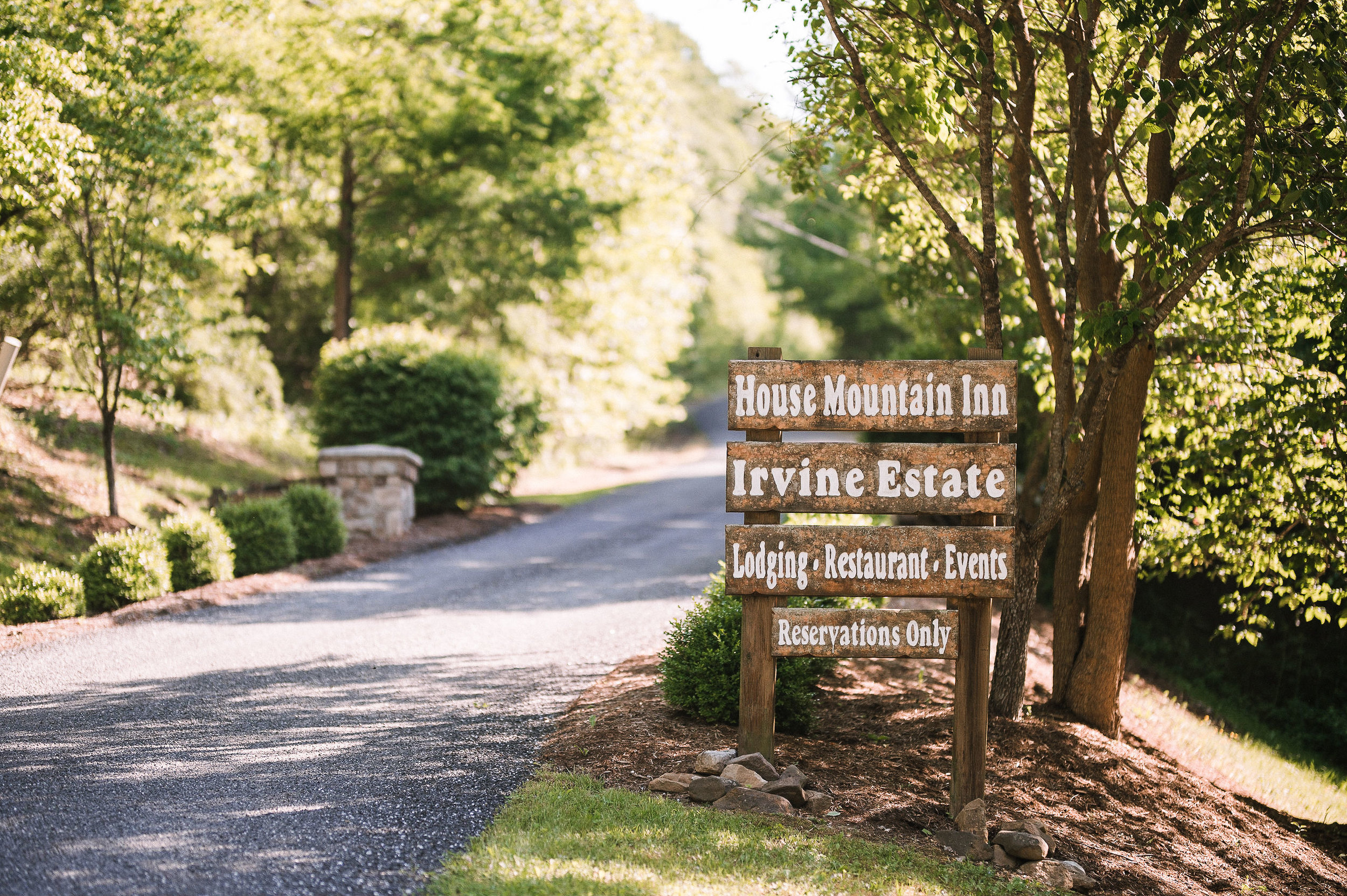 venue sign at House Mountain Inn & Irvine Estate