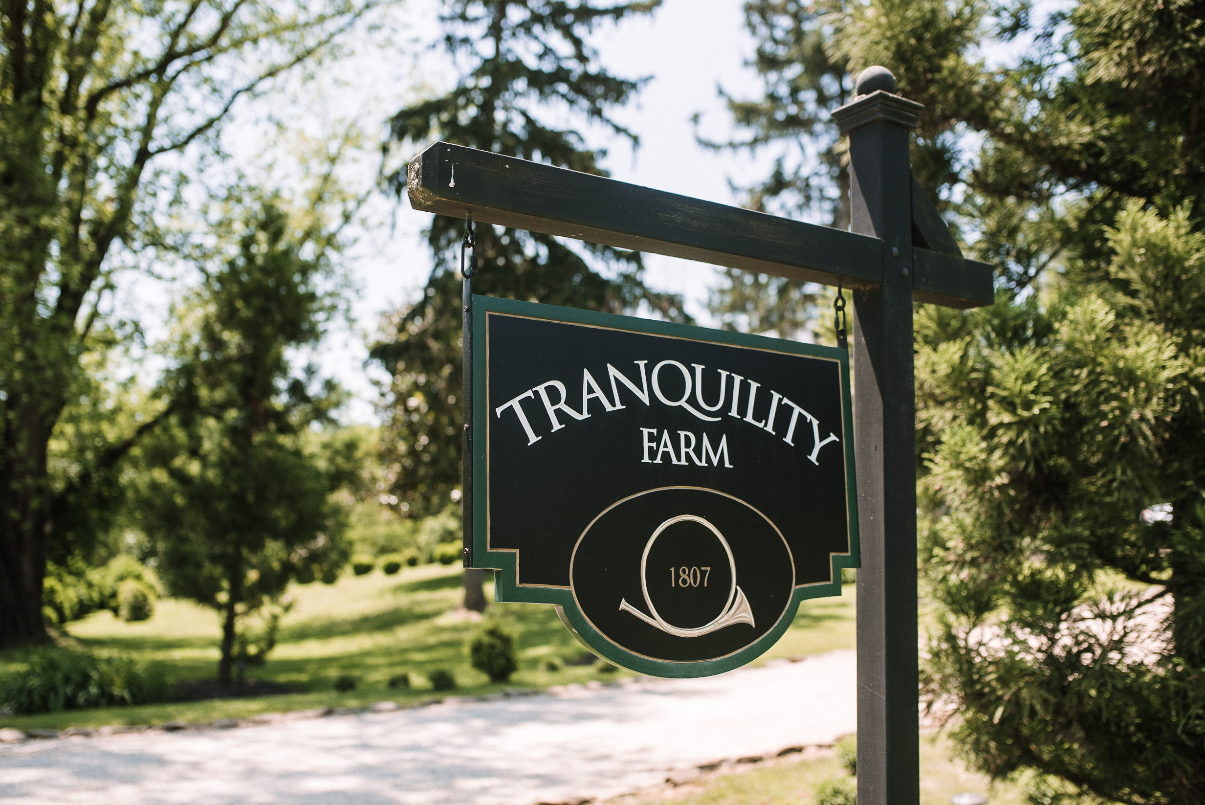 tranquility farm sign at tranquility farm