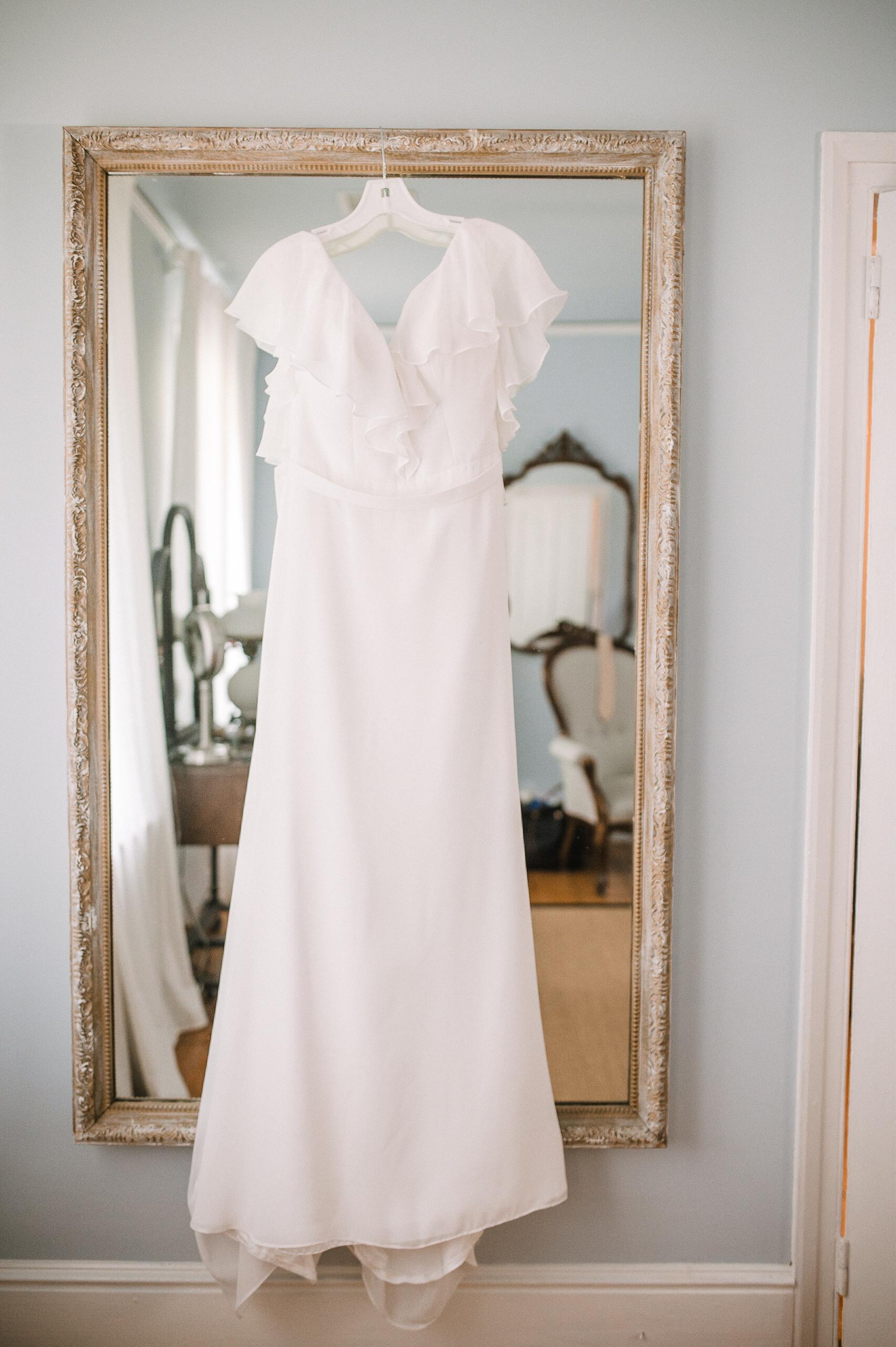 bride wedding dress at tranquility farm