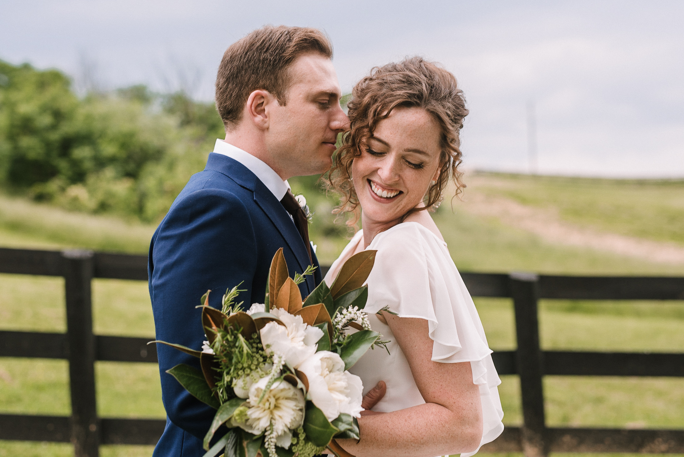 bride and groom portraits at tranquility farm