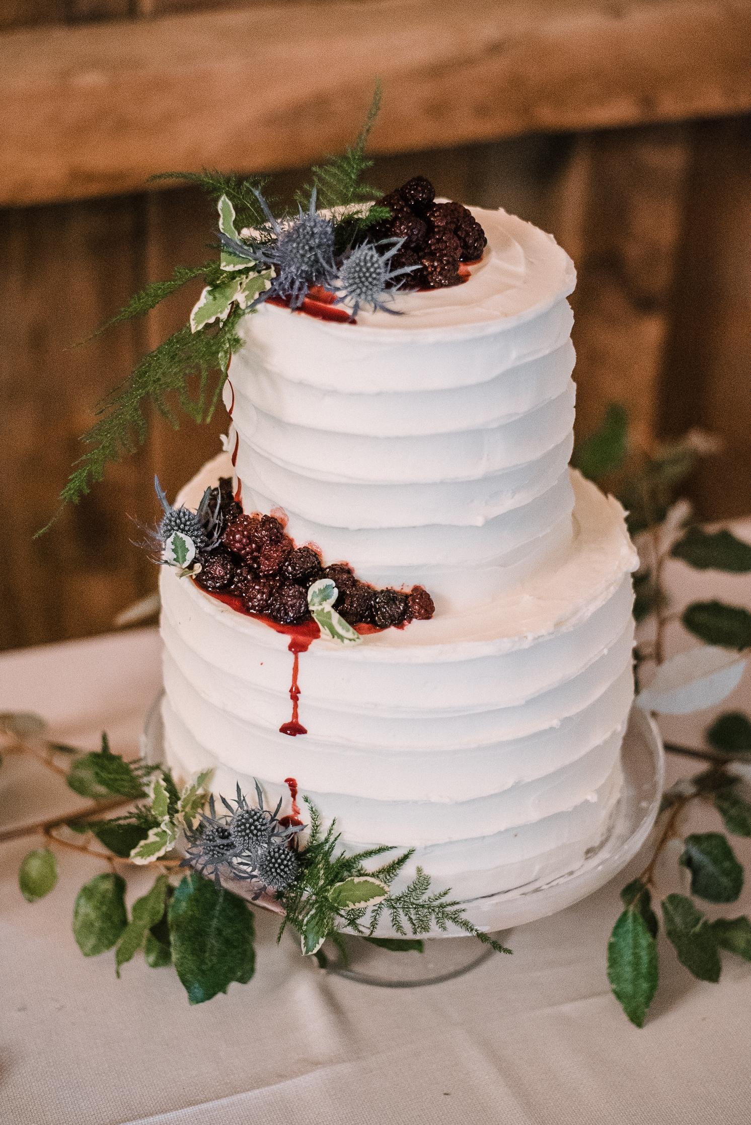 wedding cake detail shot  at tranquility farm