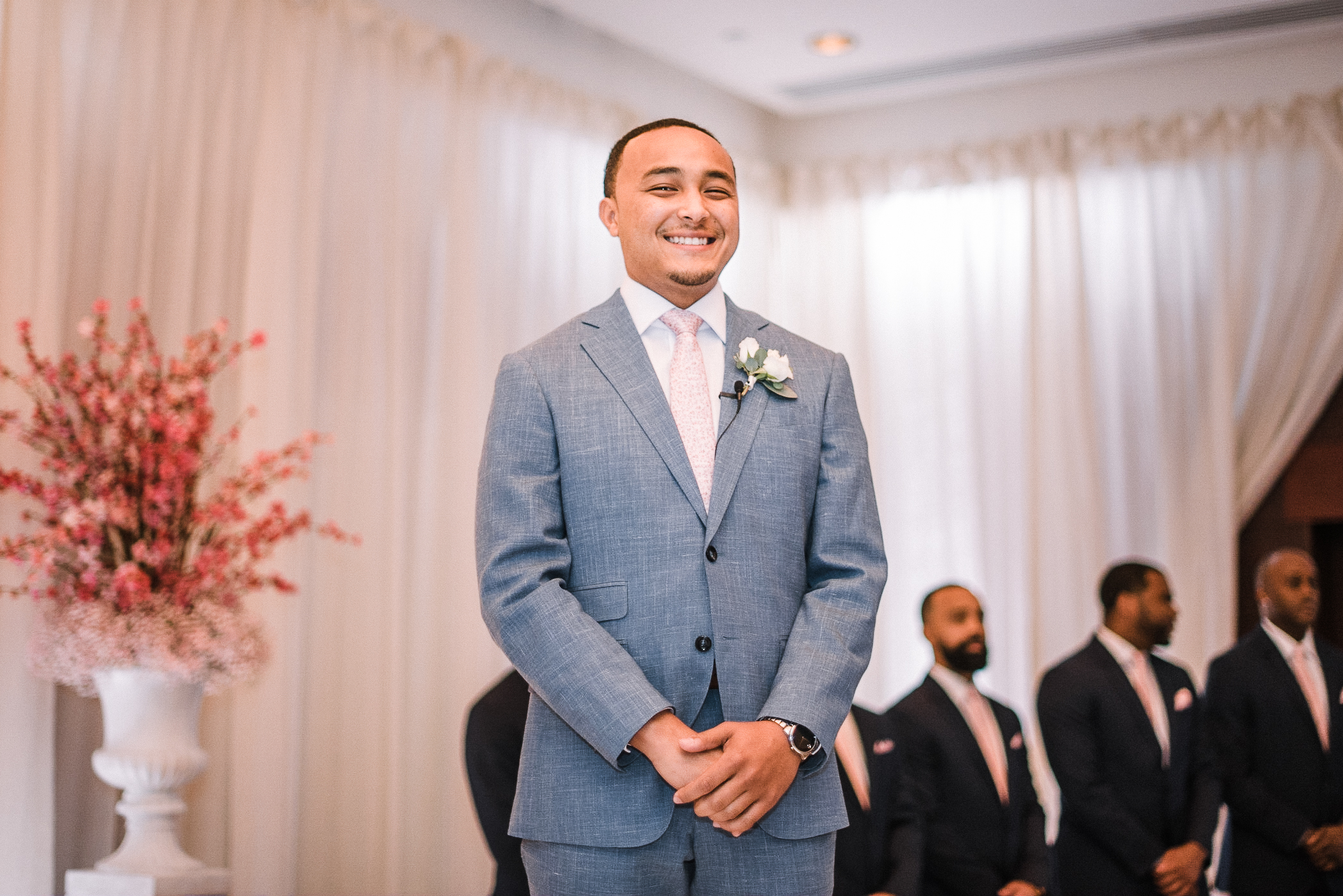groom standing at the altar at The Park Hyatt Hotel in Washington DC
