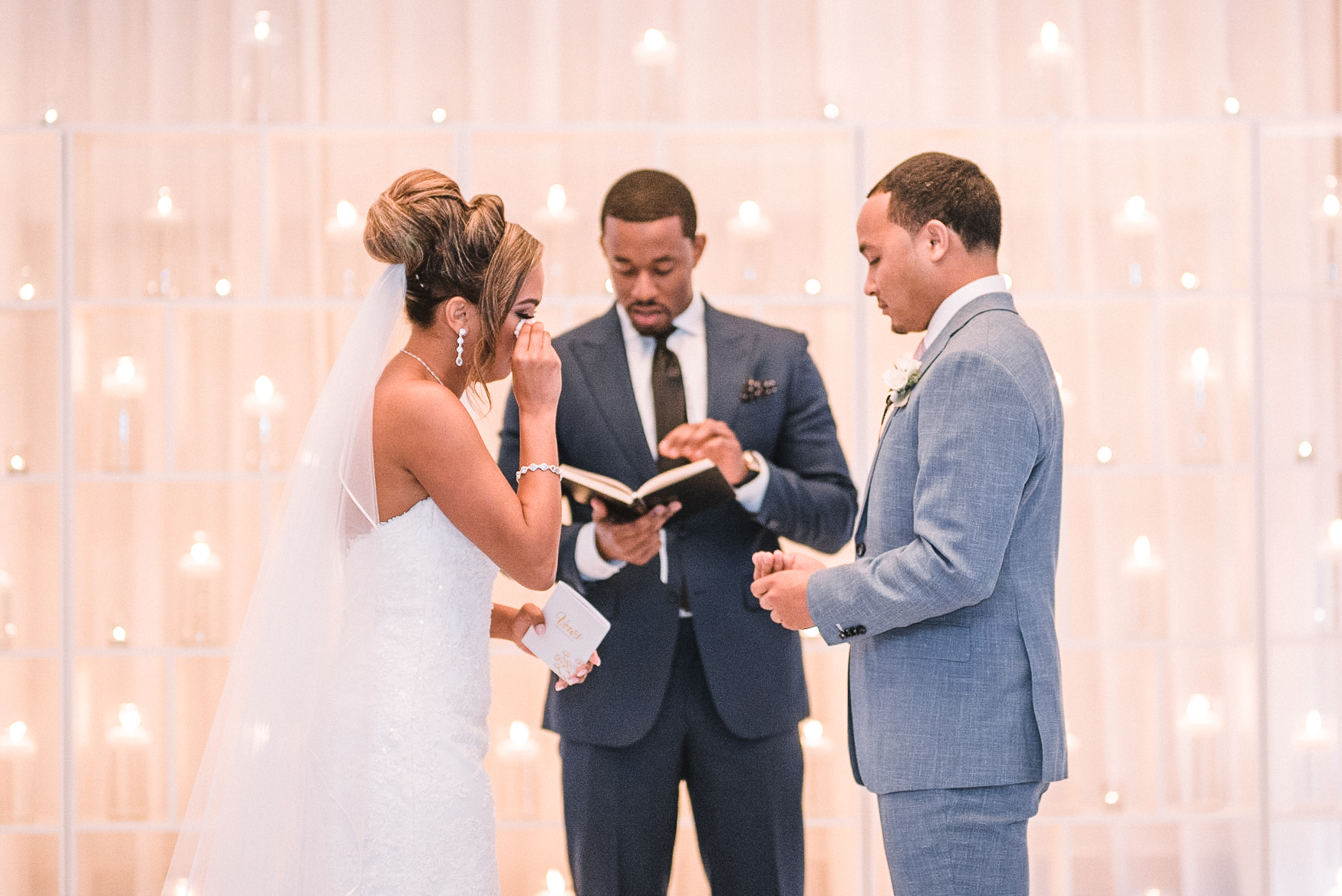 bride and groom exchanging vows at The Park Hyatt Hotel in Washington DC