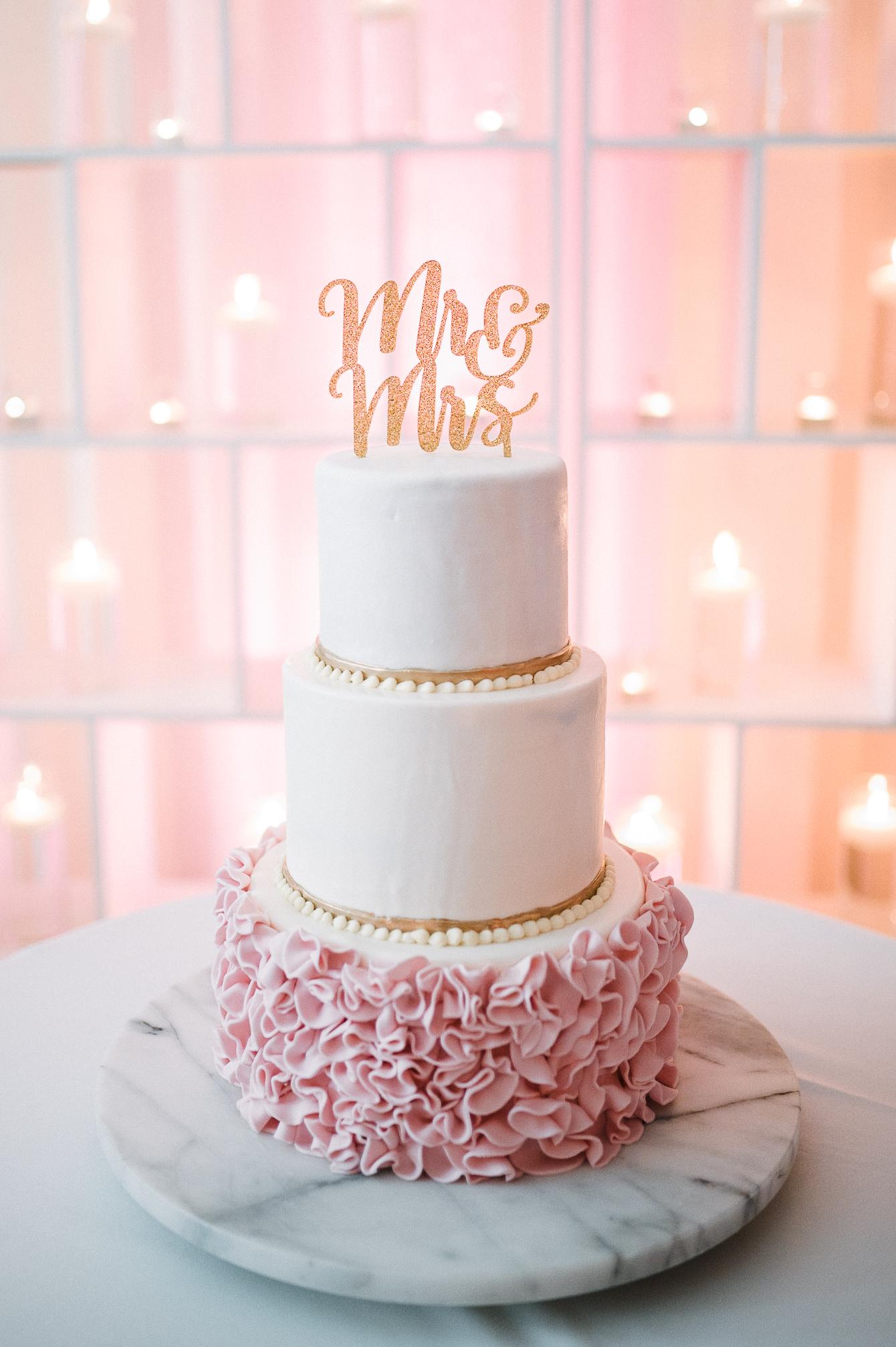 detail shot of wedding cake at The Park Hyatt Hotel in Washington DC