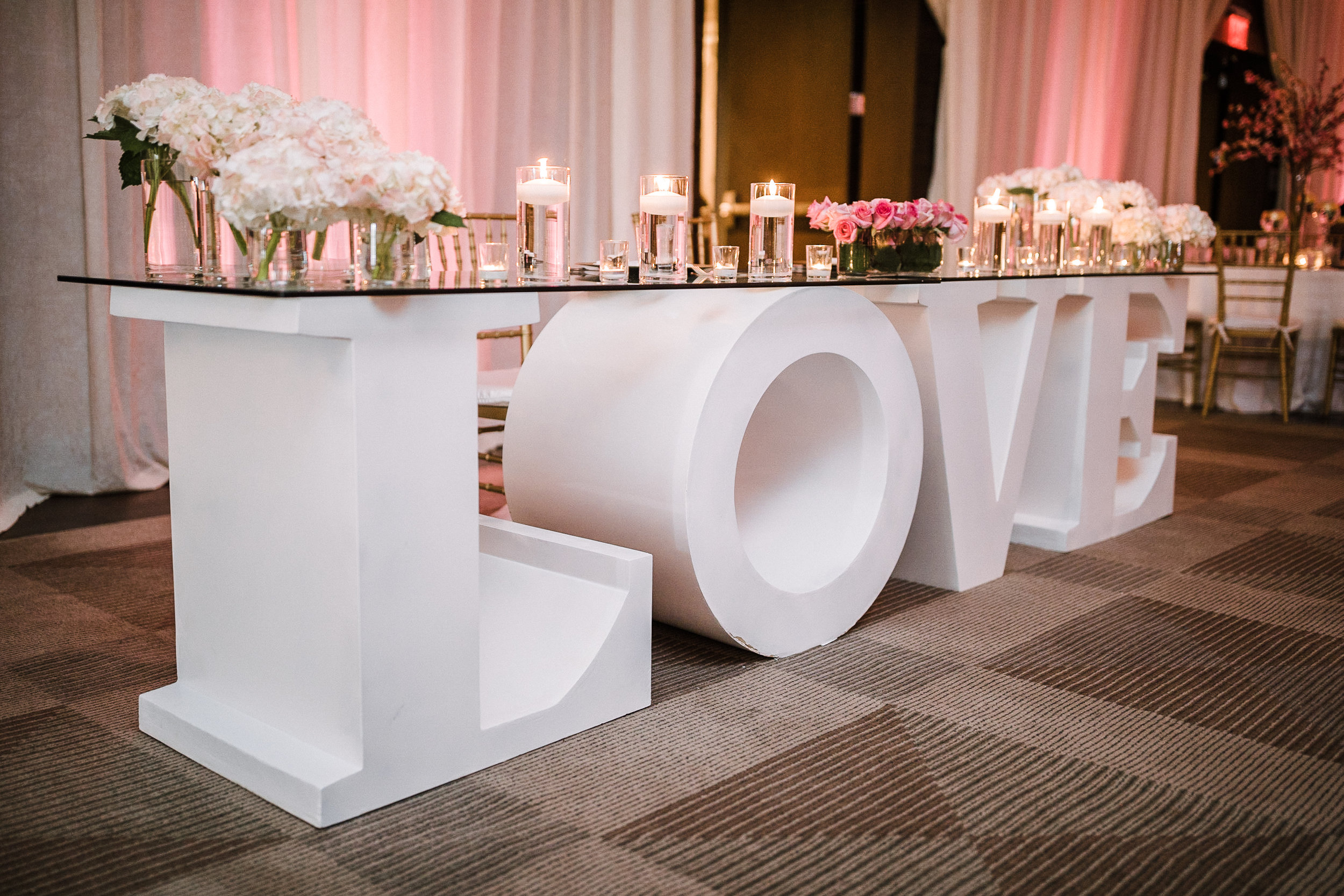 details at reception at The Park Hyatt Hotel in Washington DC