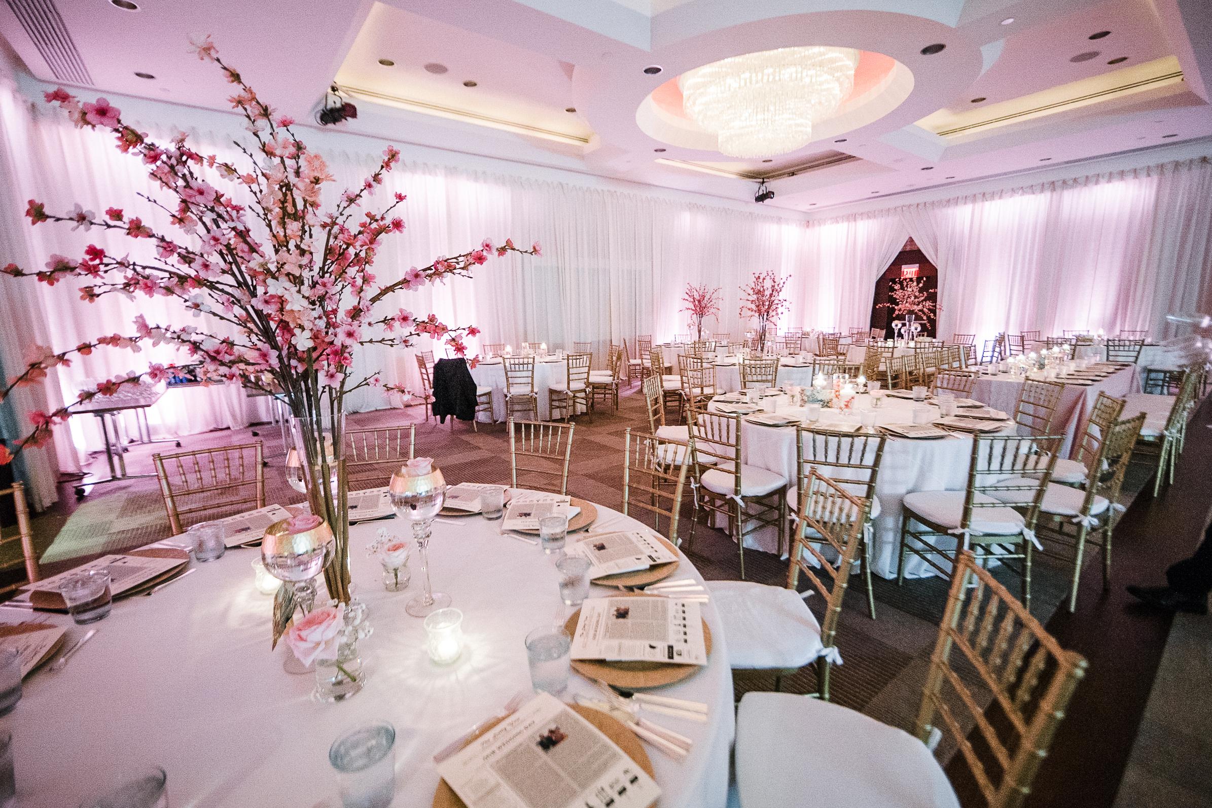 detail shot of reception space at The Park Hyatt Hotel in Washington DC
