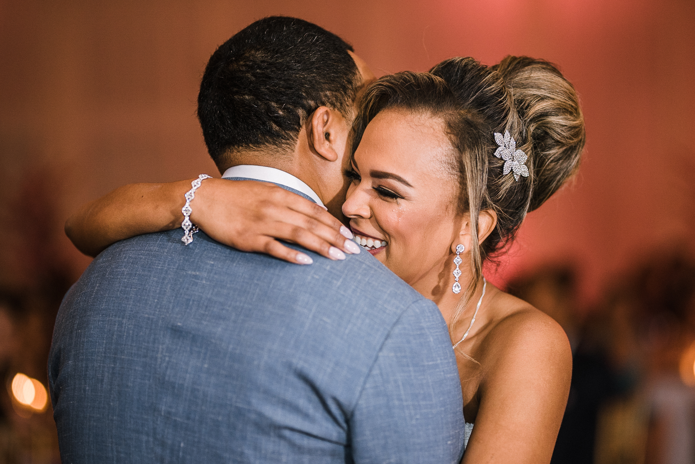 bride and groom having first dance at The Park Hyatt Hotel in Washington DC