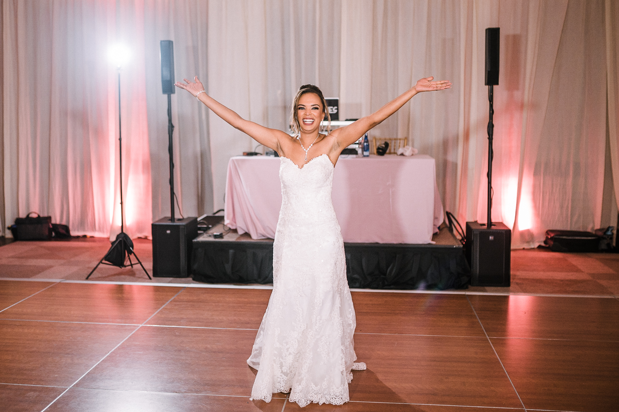 bride out on the dance floor at The Park Hyatt Hotel in Washington DC