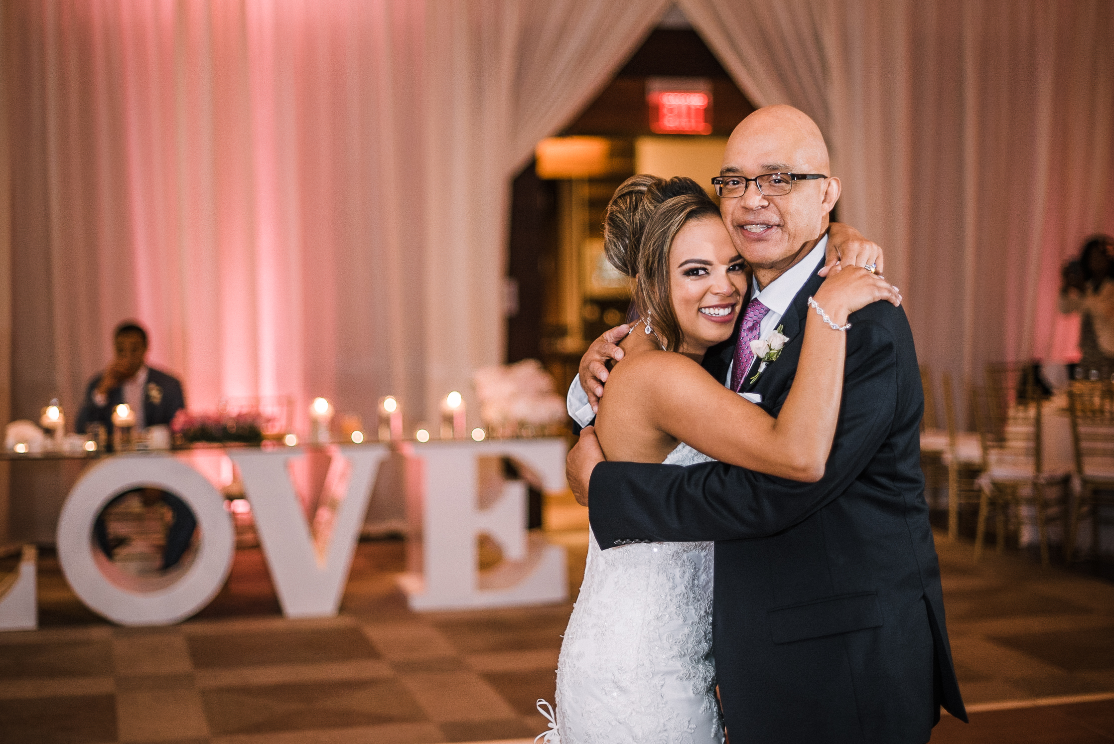bride and dad having a dance at The Park Hyatt Hotel in Washington DC