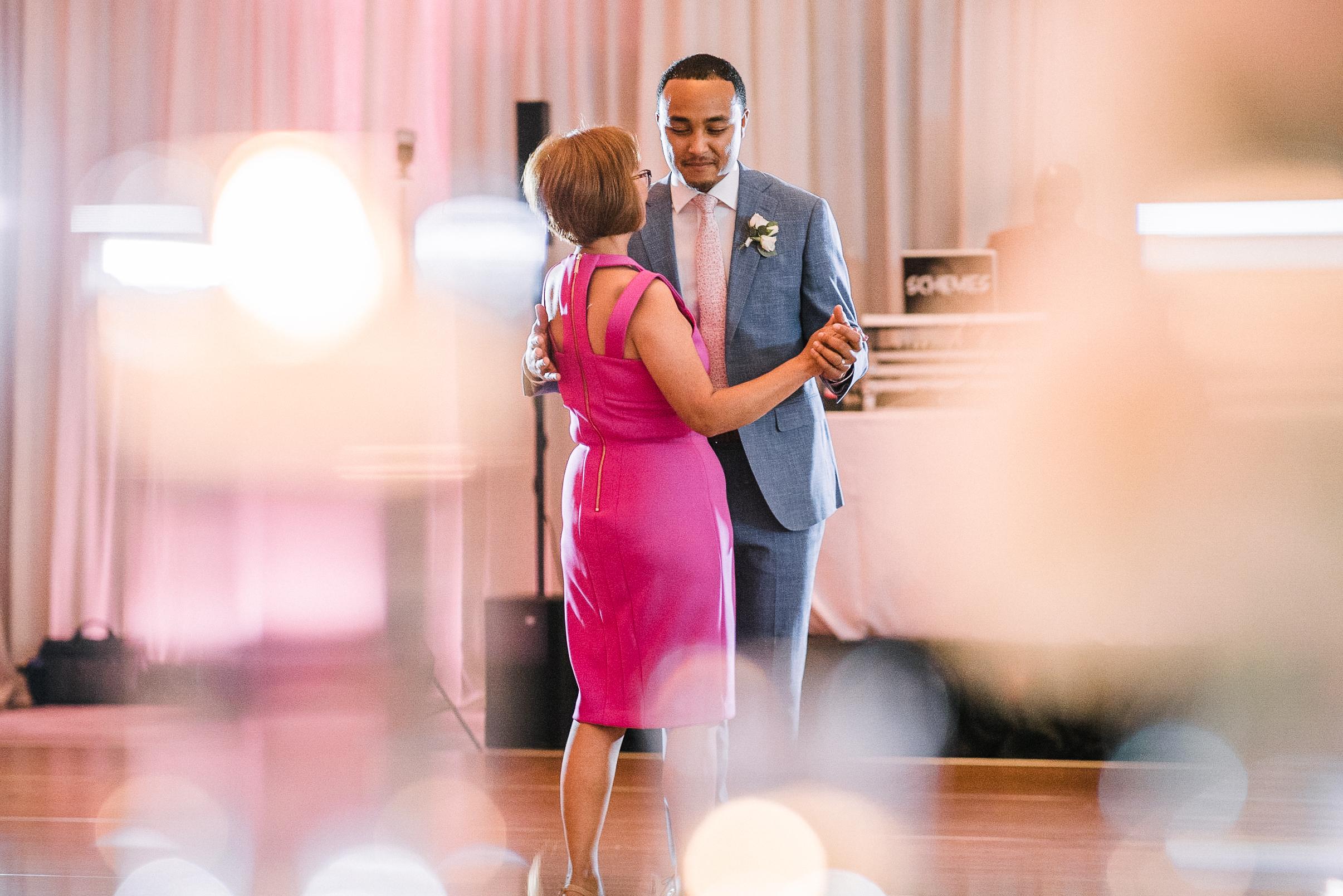 groom and mom having a dance at The Park Hyatt Hotel in Washington DC