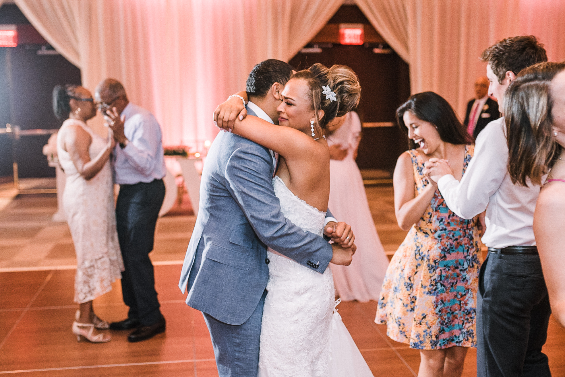 bride and groom dancing at reception at The Park Hyatt Hotel in Washington DC