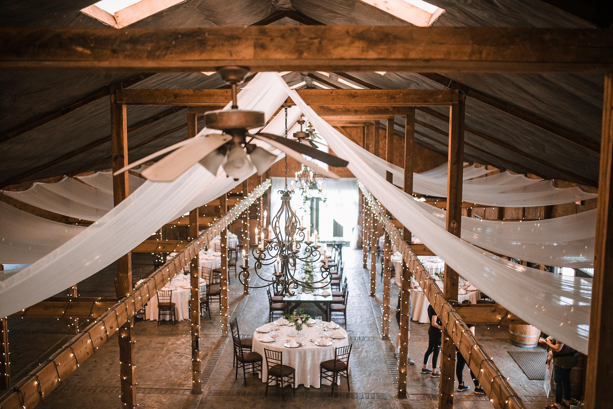reception shot at Bluemont Vineyard