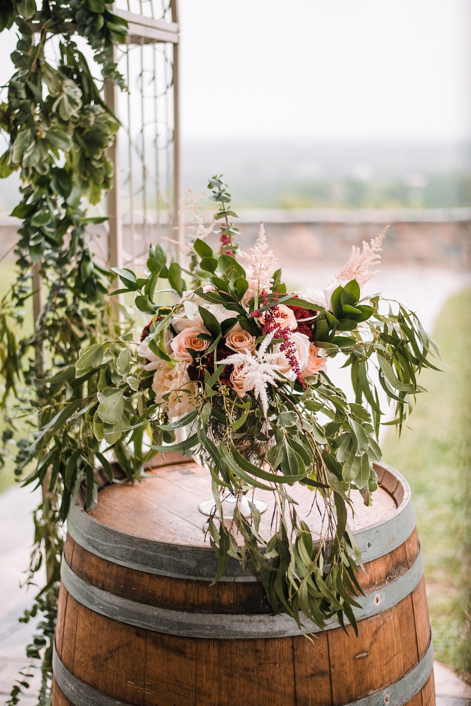 floral arrangement at Bluemont Vineyard