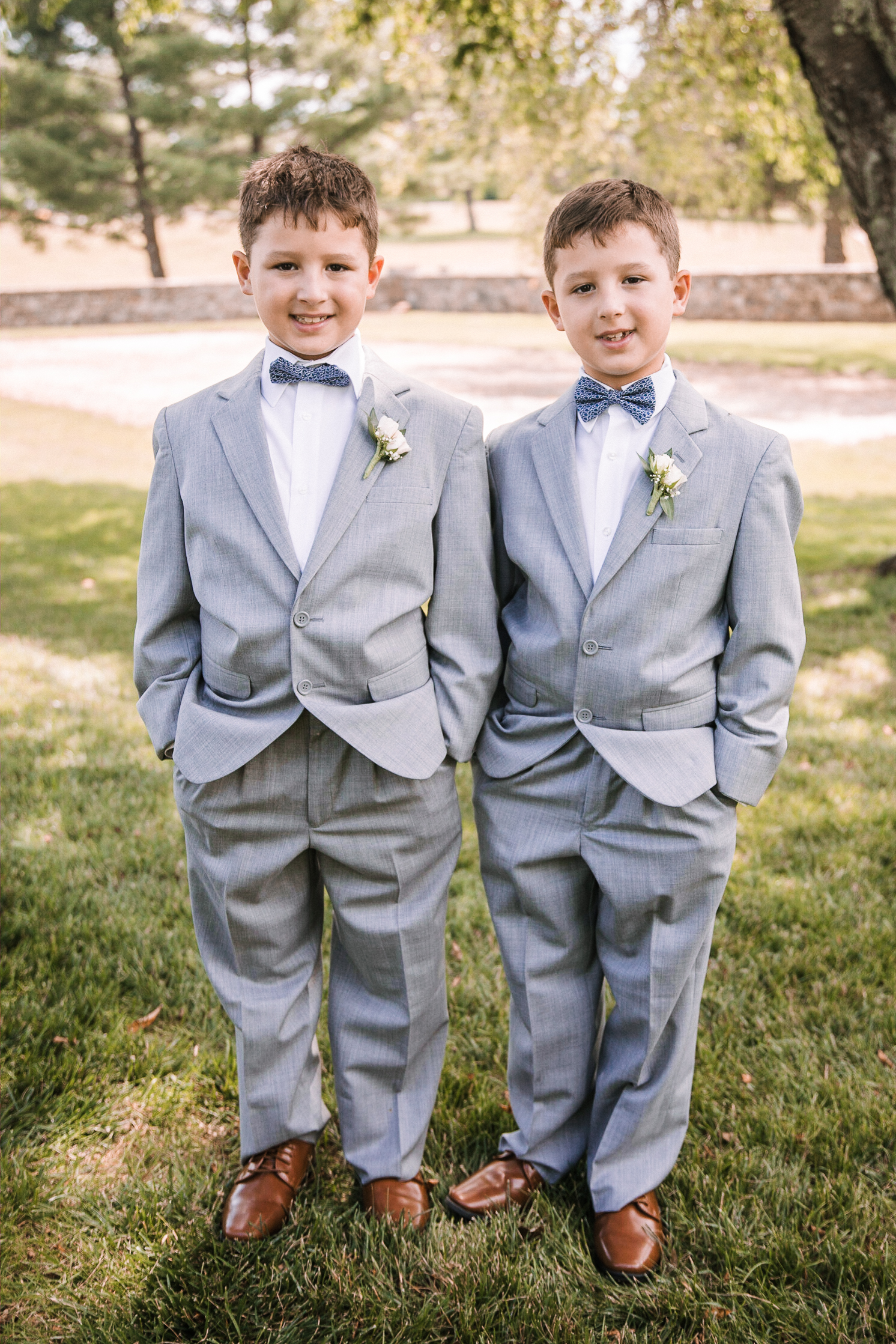 ring bearers at Evergreen Country Club