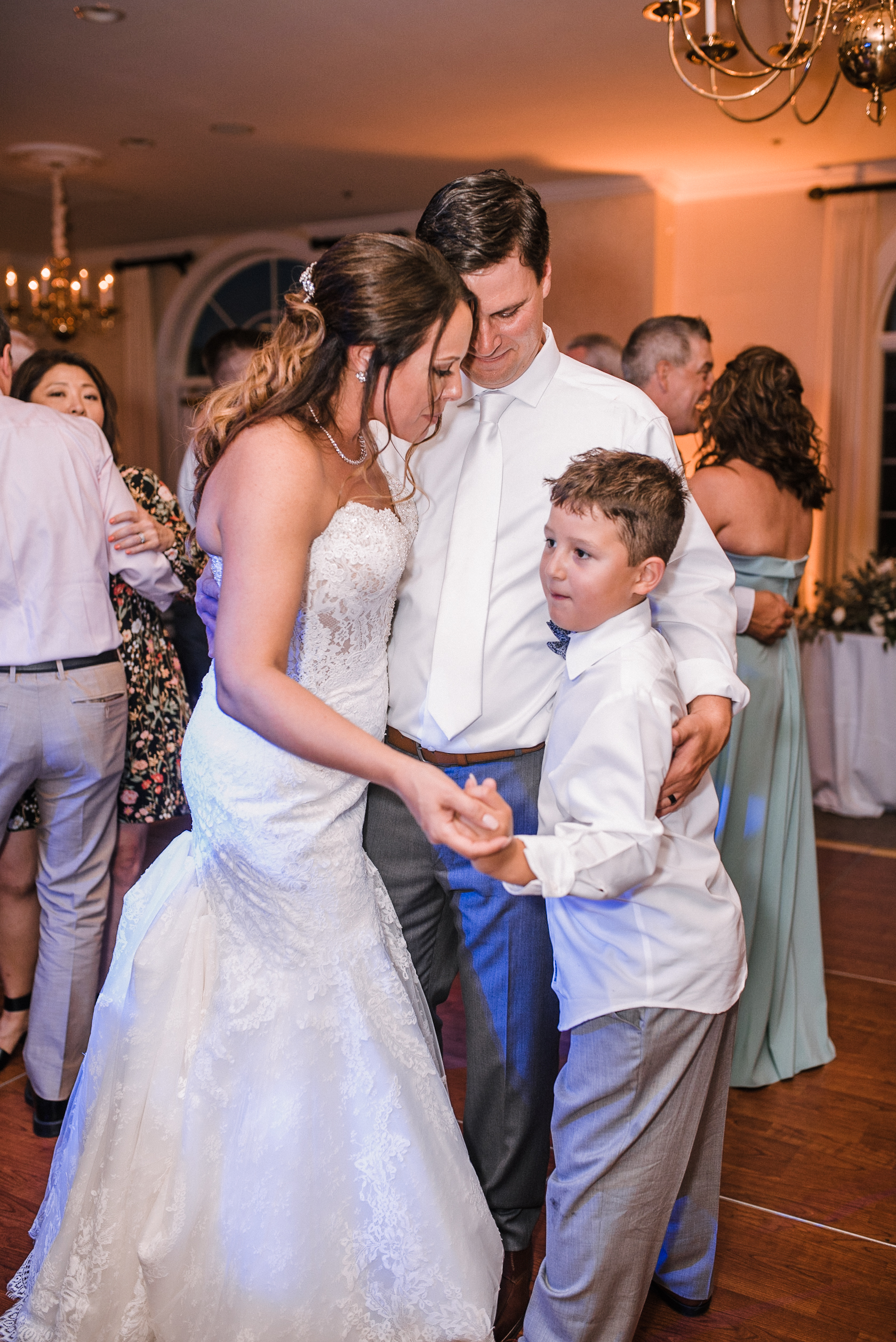 bride and groom dancing at Evergreen Country Club