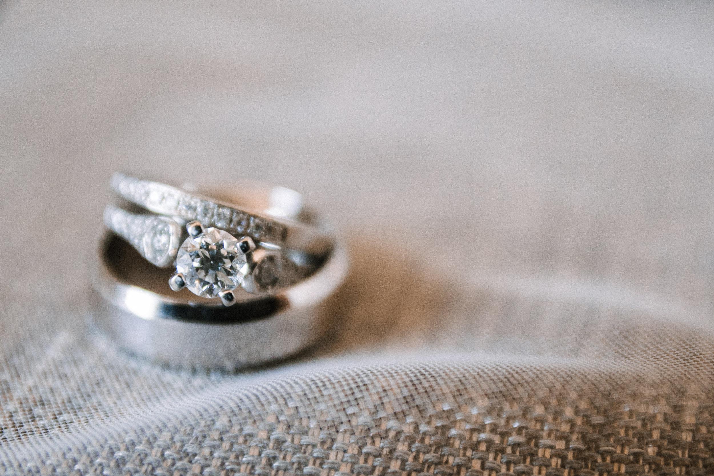detail shot of wedding rings at Embassy Suites in Springfield, VA
