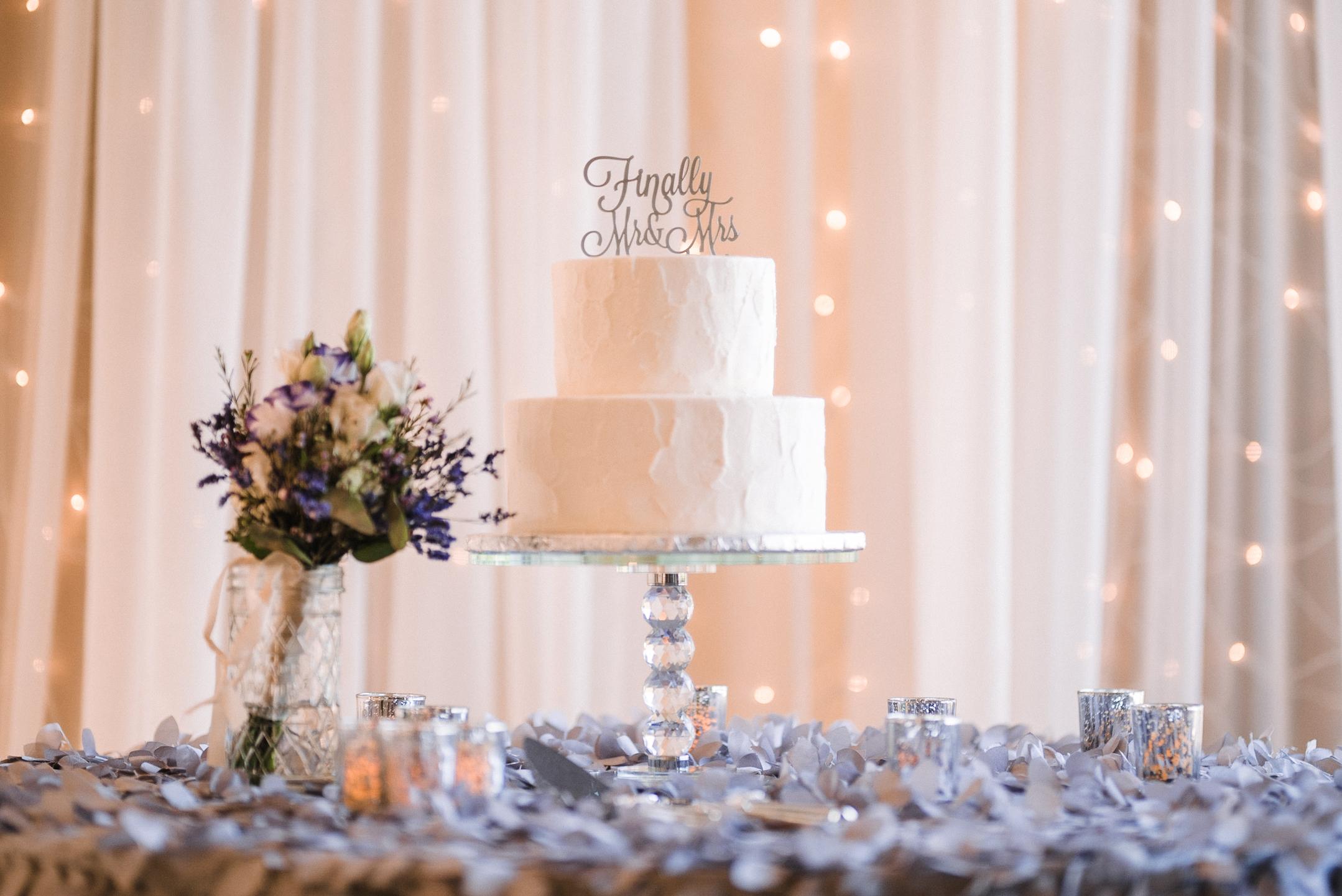wedding cake detail shot at Harbour View