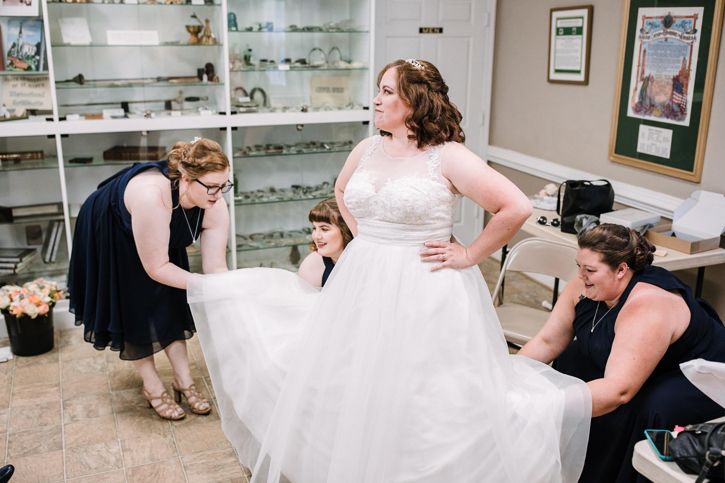 bride getting ready at Westfields Golf Club