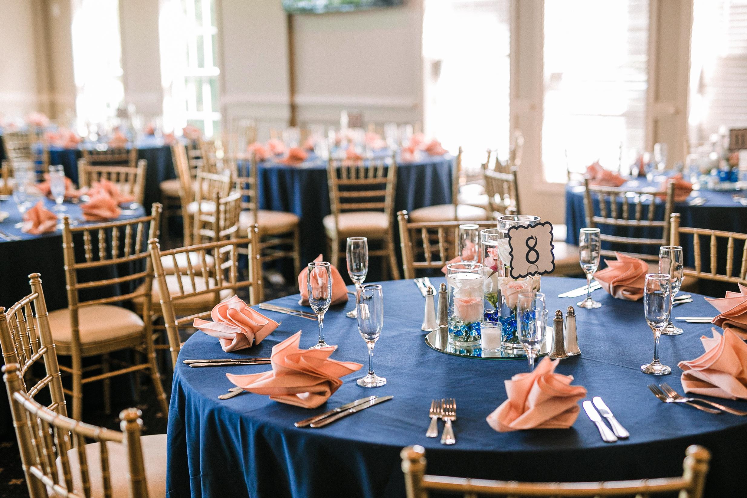 reception details at Westfields Golf Club