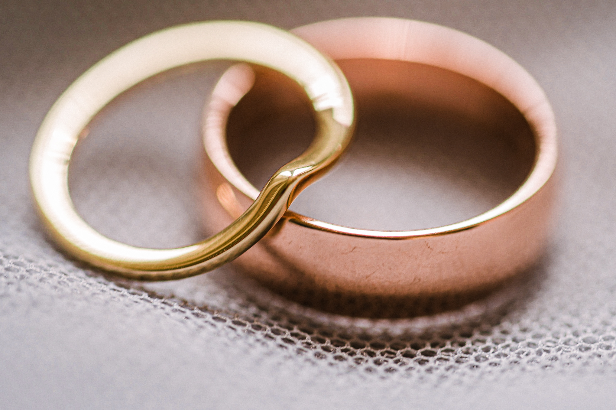 detail shot of wedding rings at Great Marsh Estate