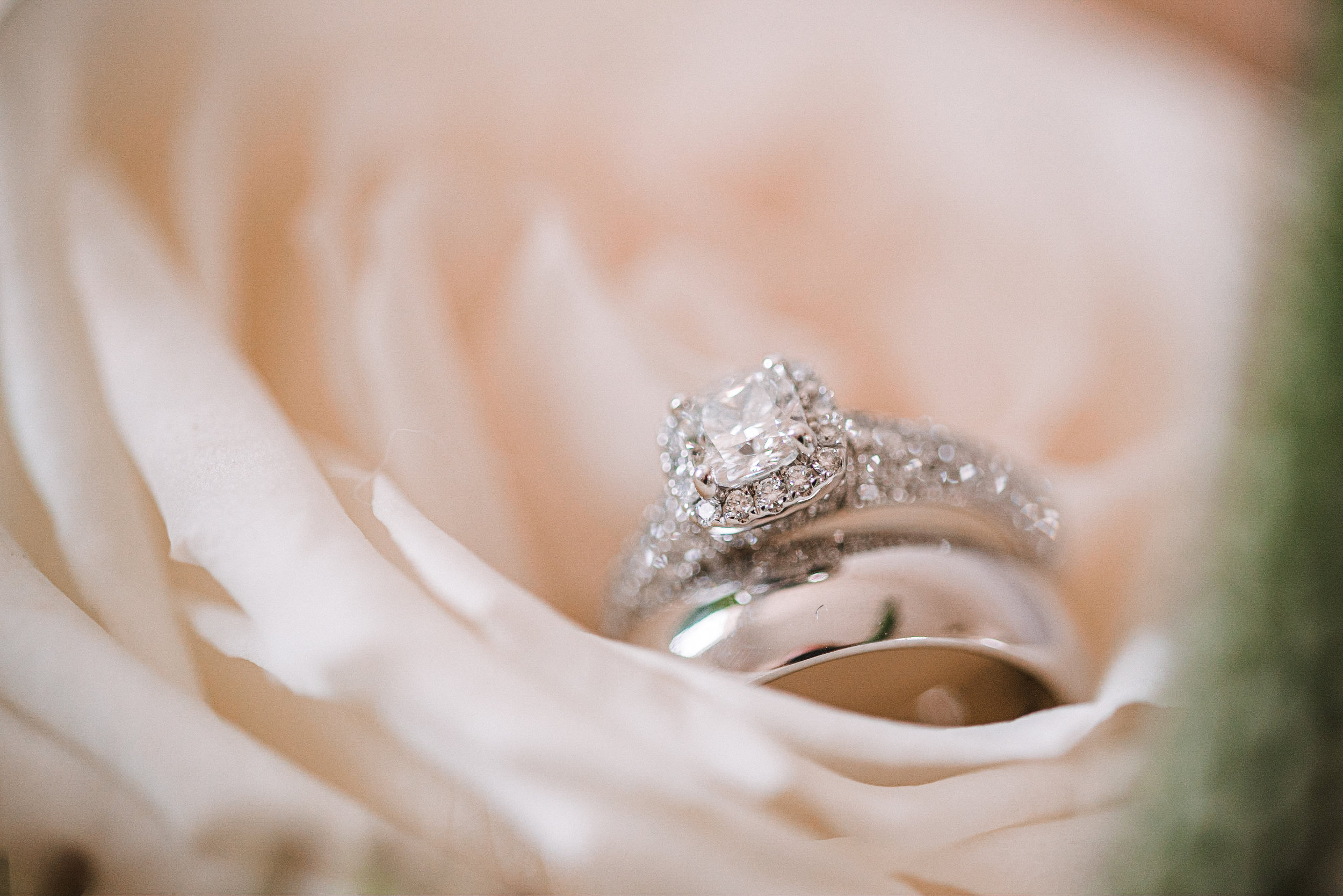 detail shot of wedding rings at Birkby House