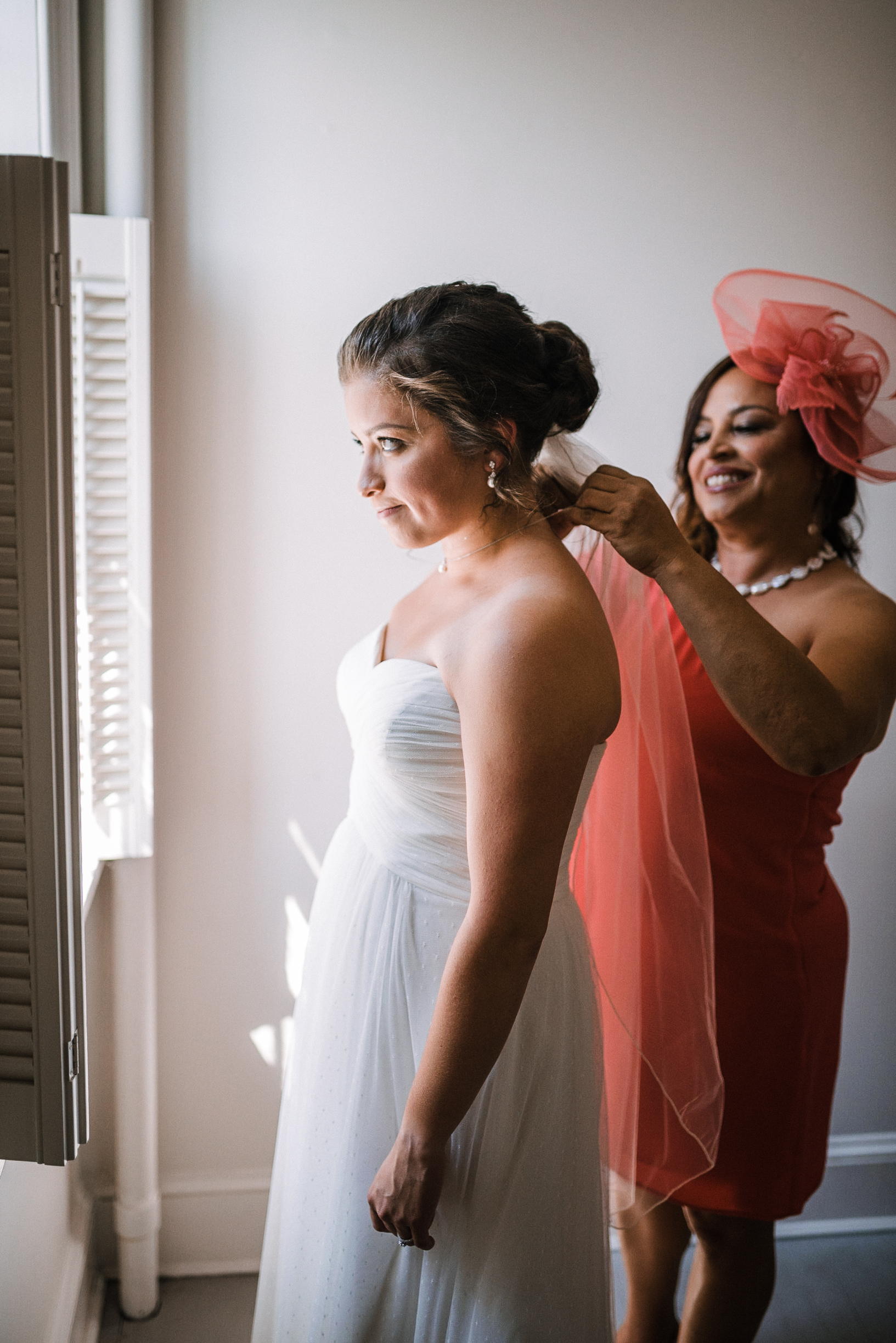 bride getting ready at Birkby House