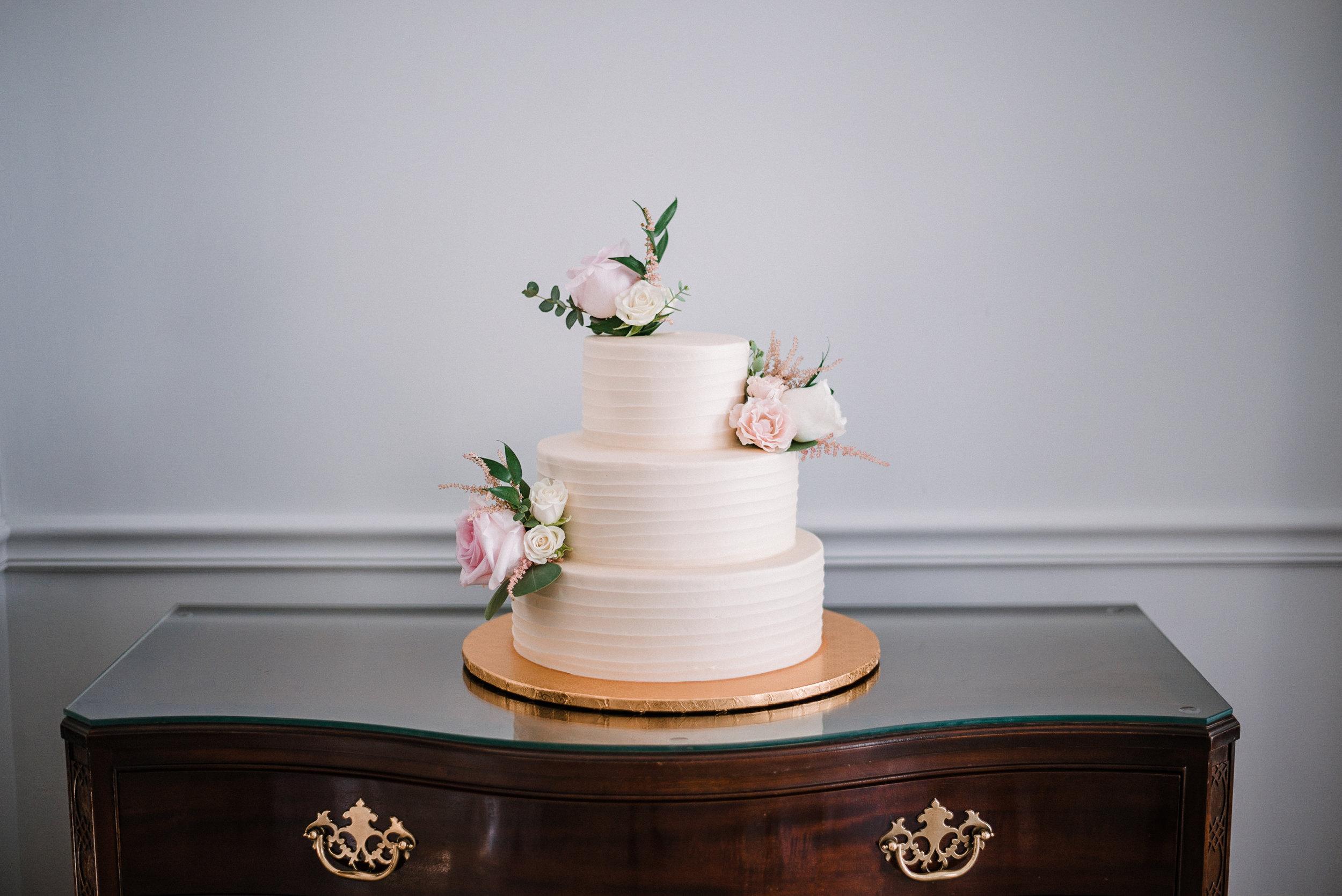 wedding cake detail shot at Birkby House